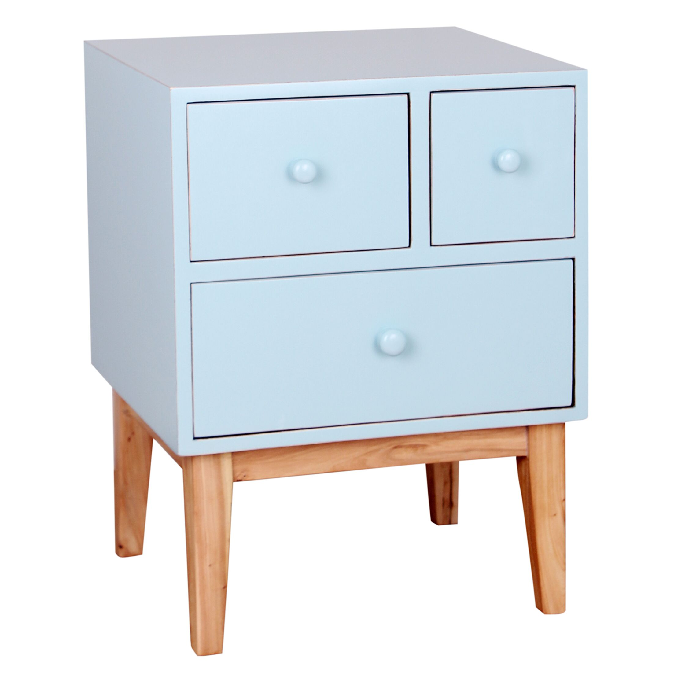 Zooey End Table With Storage� Color: Aqua