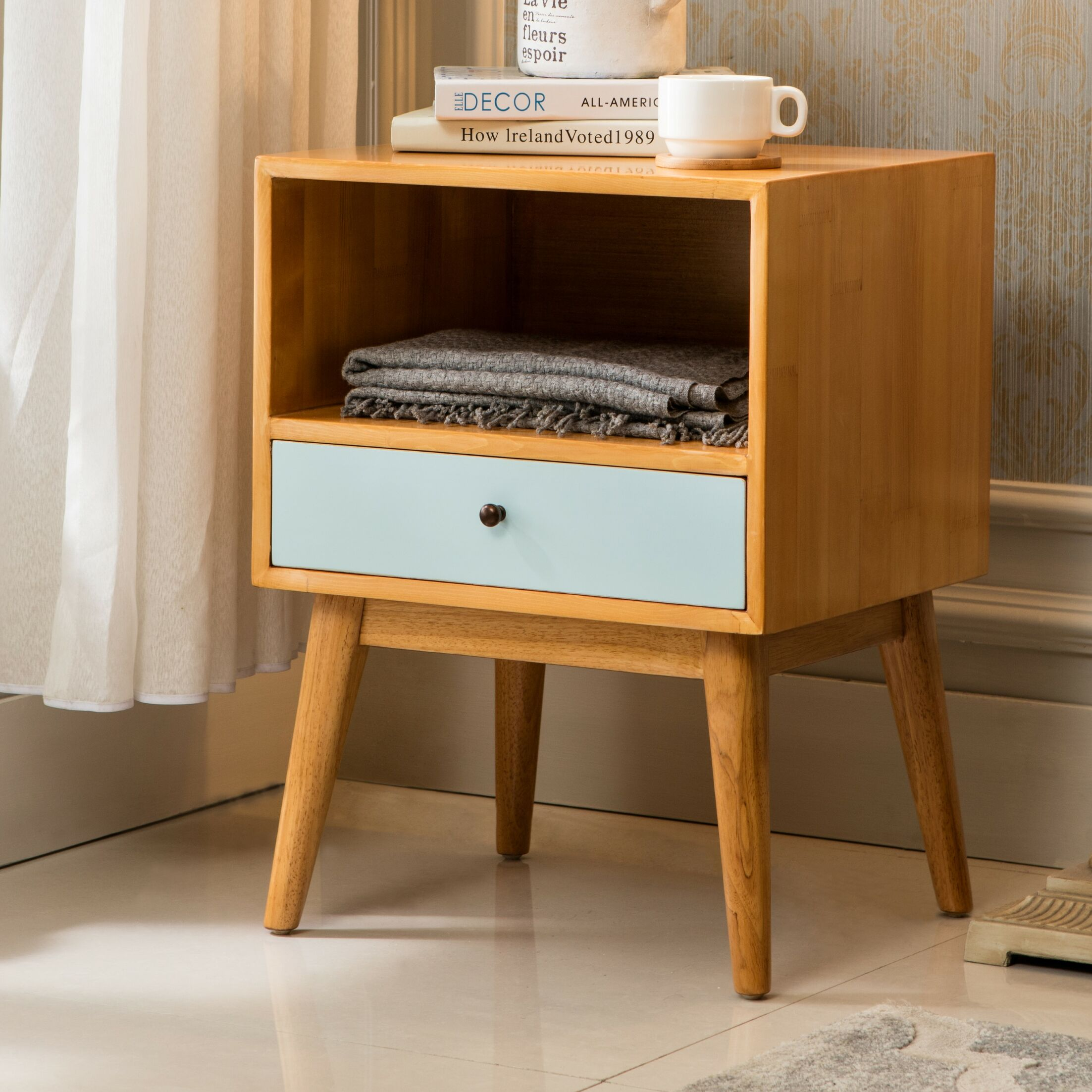 Lynx End Table Color: Aqua