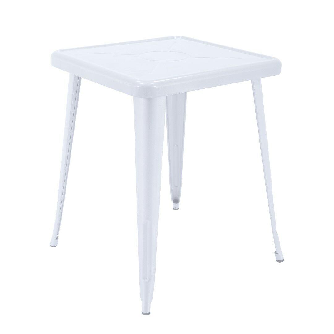 Feliz Indoor and Outdoor Rust-Resistant Metal Restaurant Coffee Table Color: White