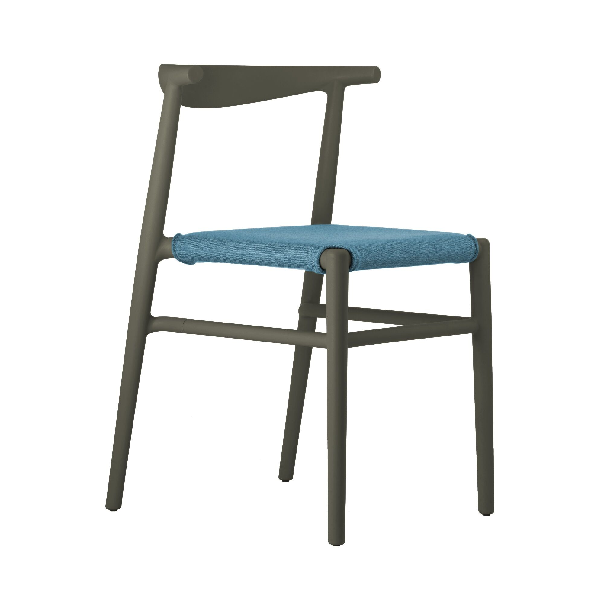 Joi Side Chair Upholstery Color: Light Blue, Finish: Dark Brown