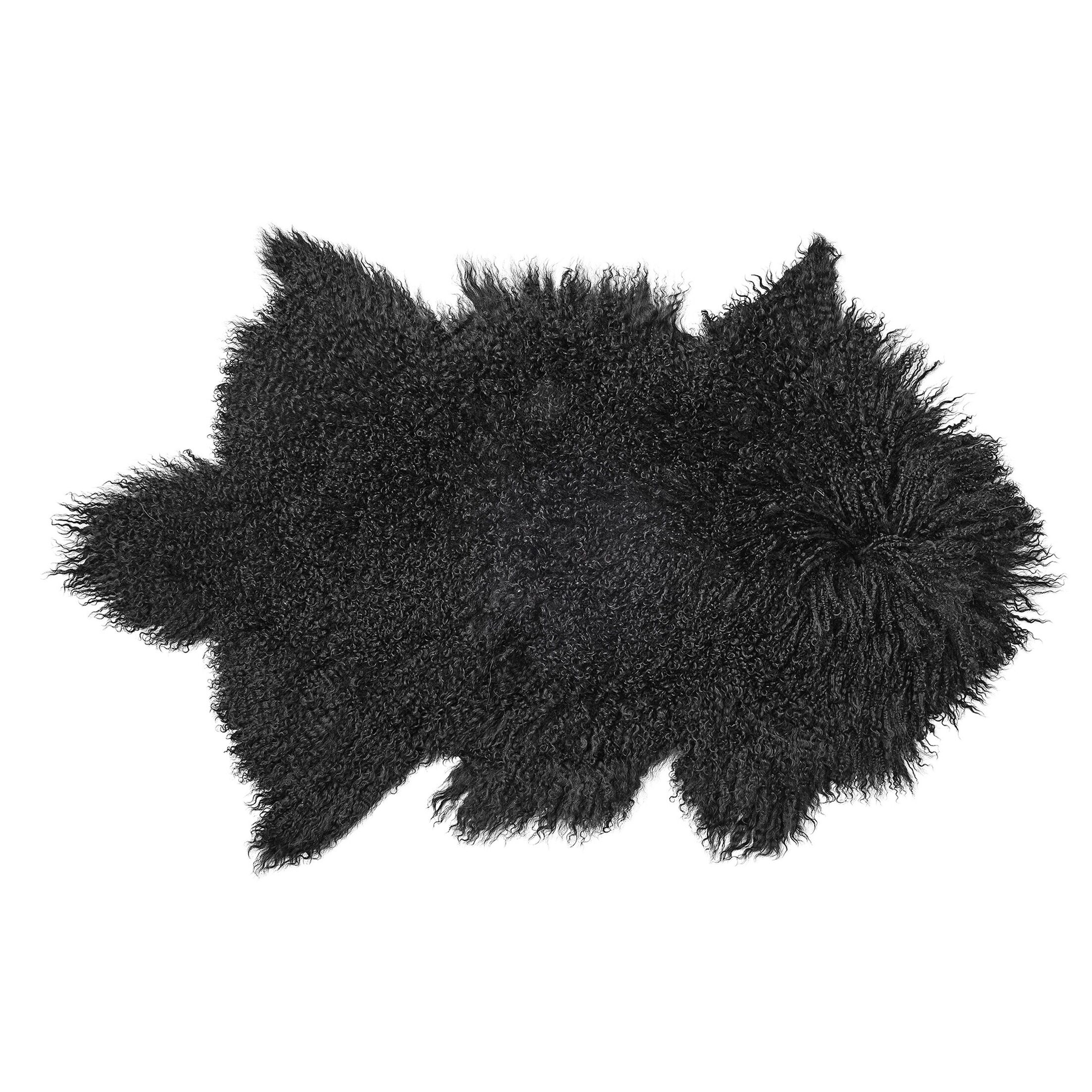 Hohl Faux Sheepskin Black Area Rug