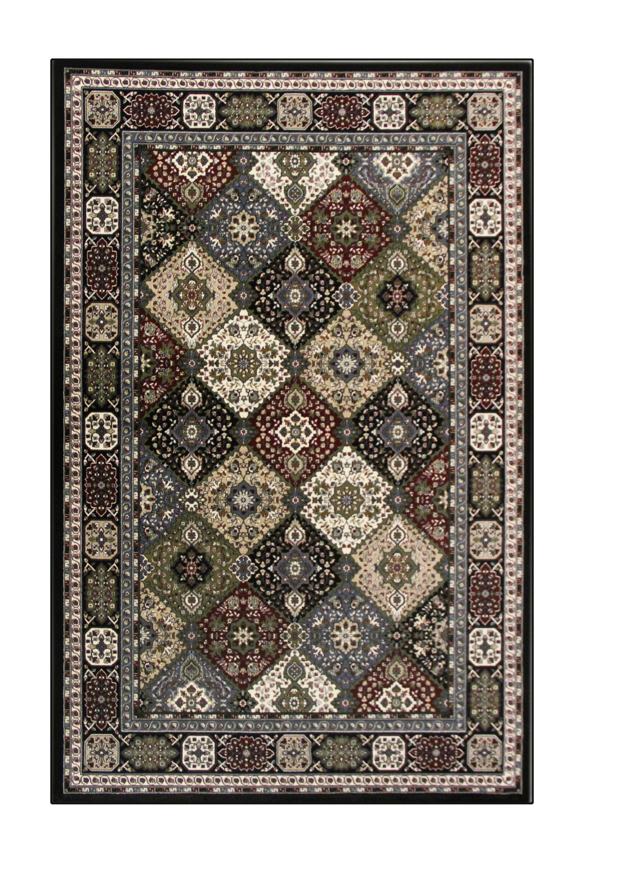 Lang Black Area Rug Rug Size: 9'2 x 12'4