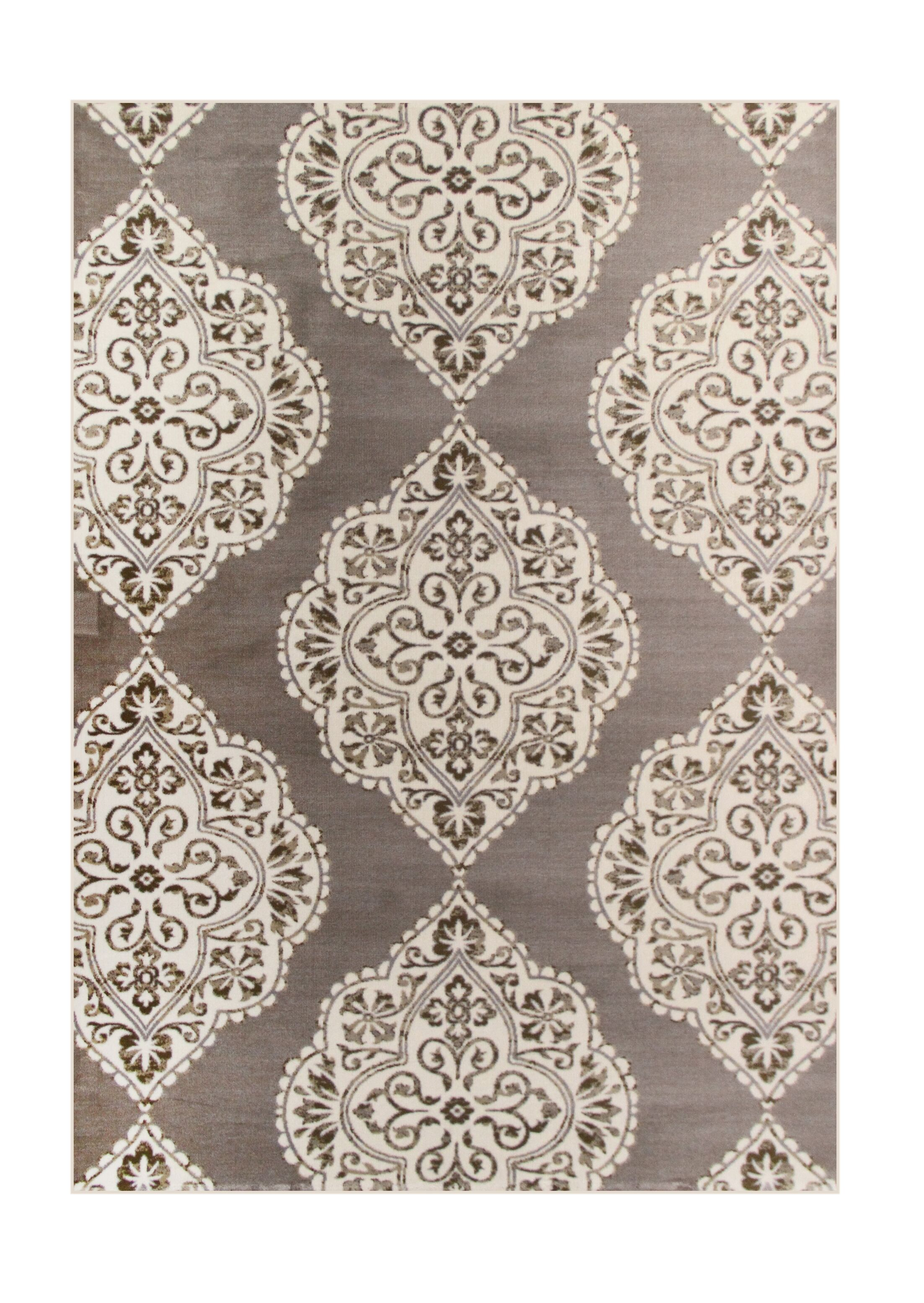 Jack Brown / White Area Rug Rug Size: 6'7 x 9'2