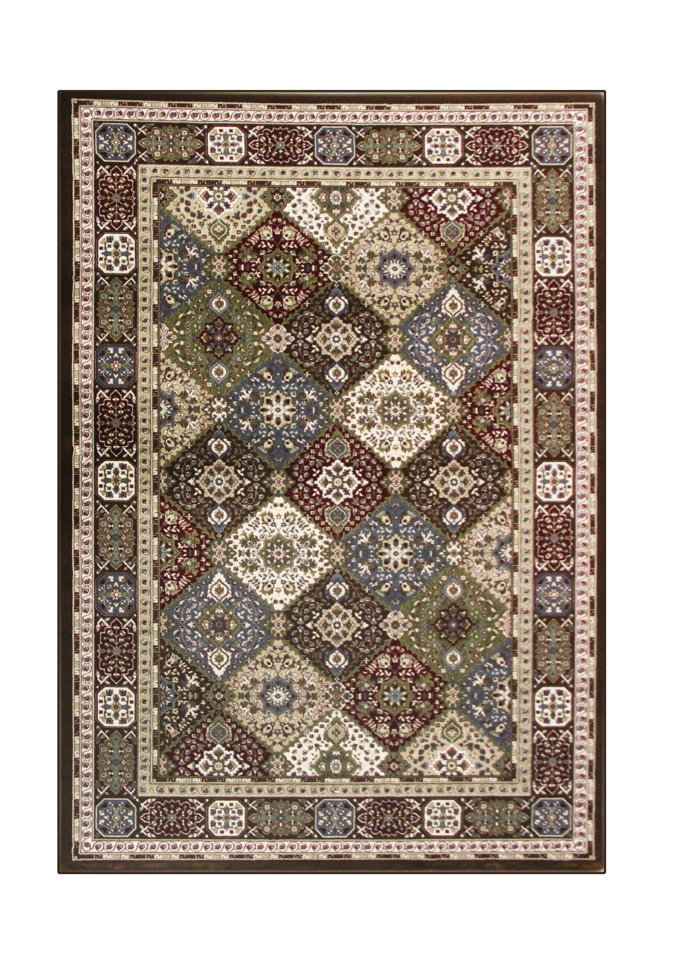 Lang Brown Area Rug Rug Size: 5'3 x 7'7