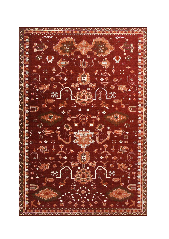 Sabanc Red Area Rug Rug Size: 6'7 x 9'2