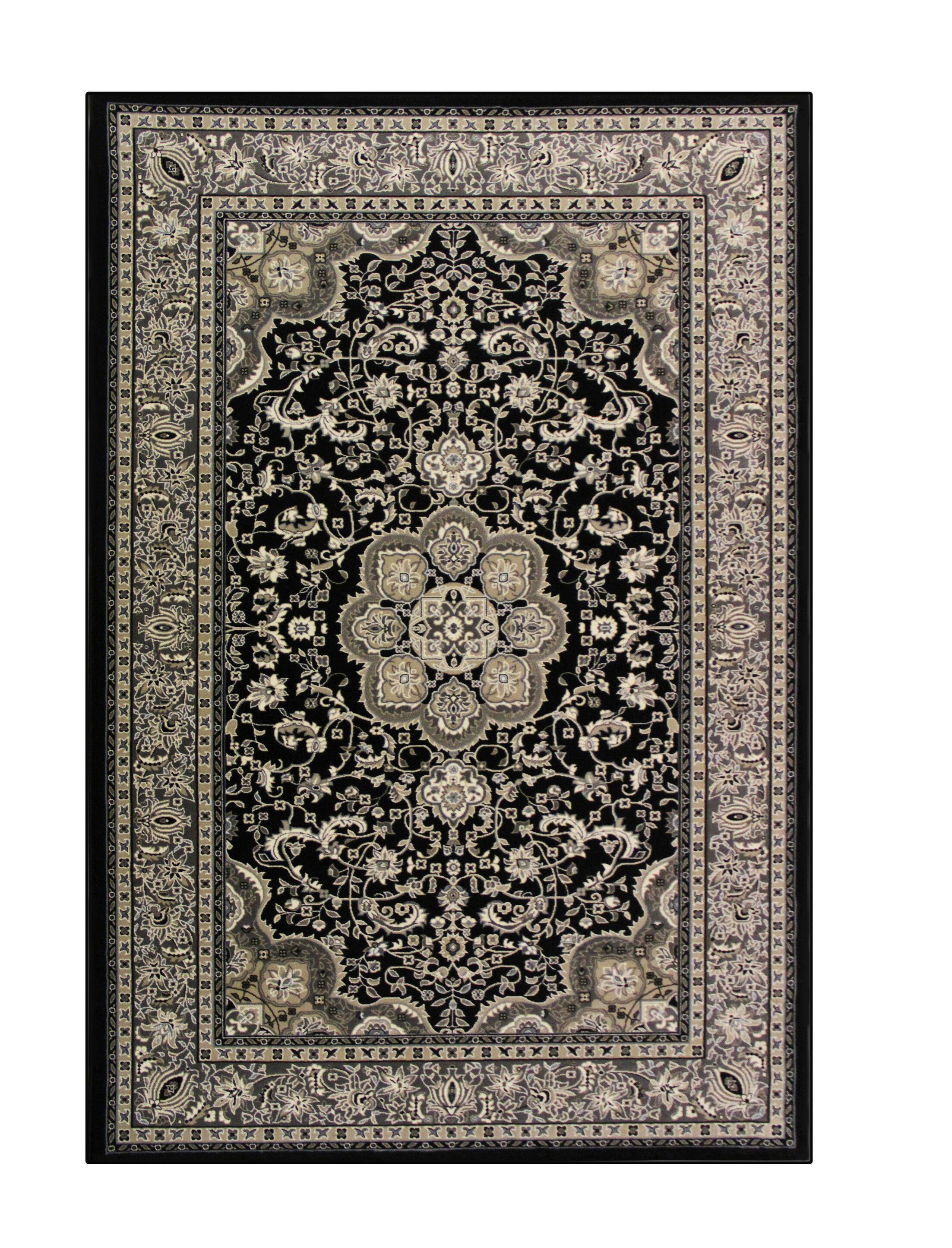 Lang Black Area Rug Rug Size: 6'7 x 9'6