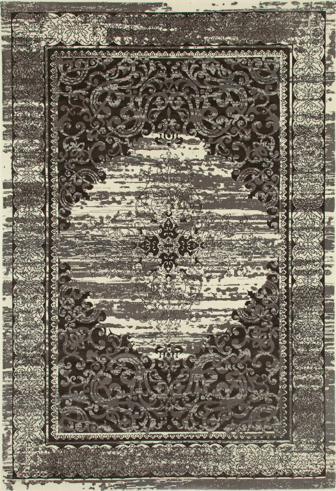 Channel Cream/Brown Area Rug Rug Size: 7'10 x 10'10