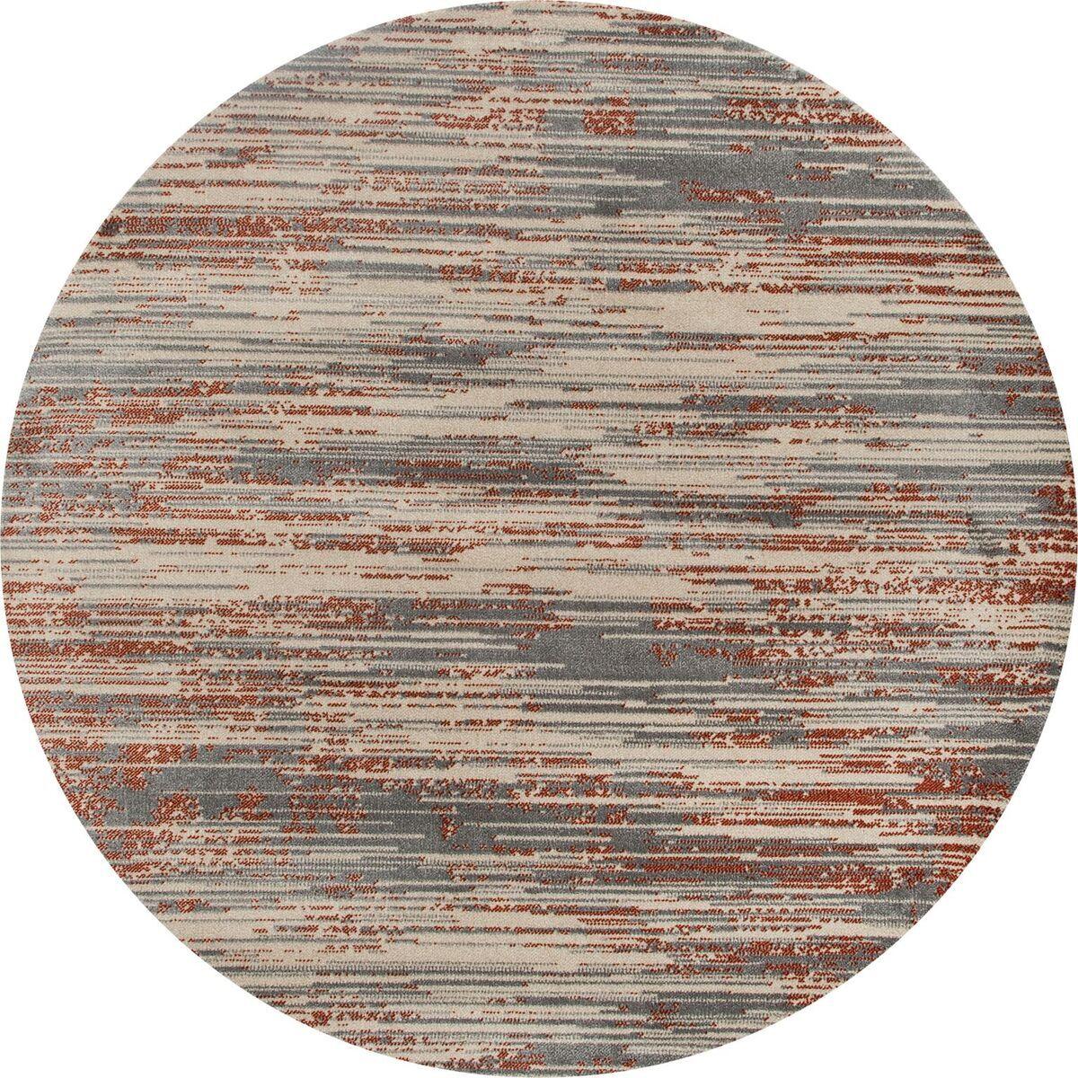 Burgos Gray/Beige Area Rug Rug Size: ROUND 7'10