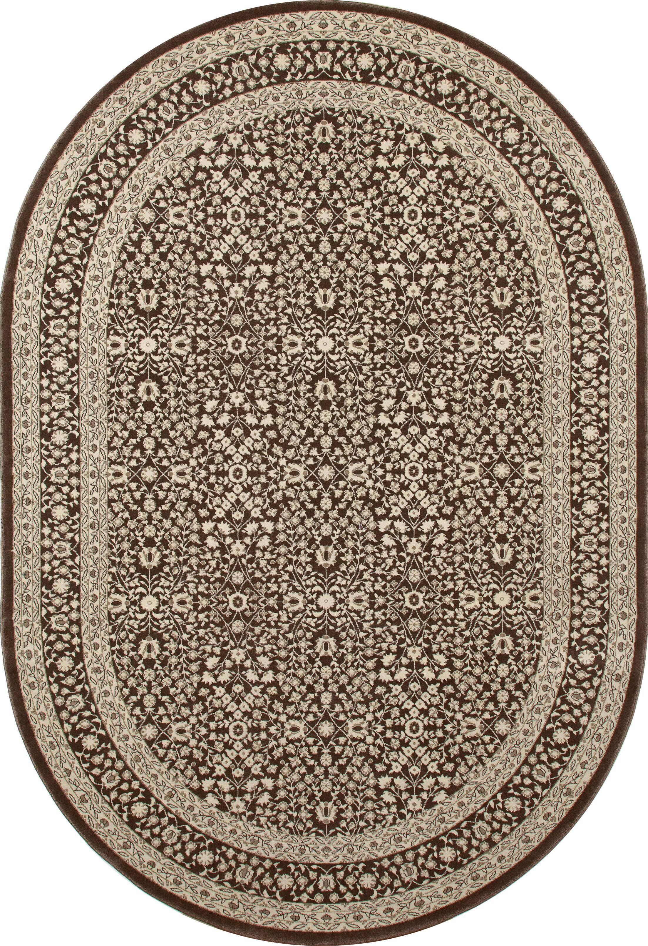 Lang Brown Area Rug Rug Size: OVAL 6'7 x 9'6