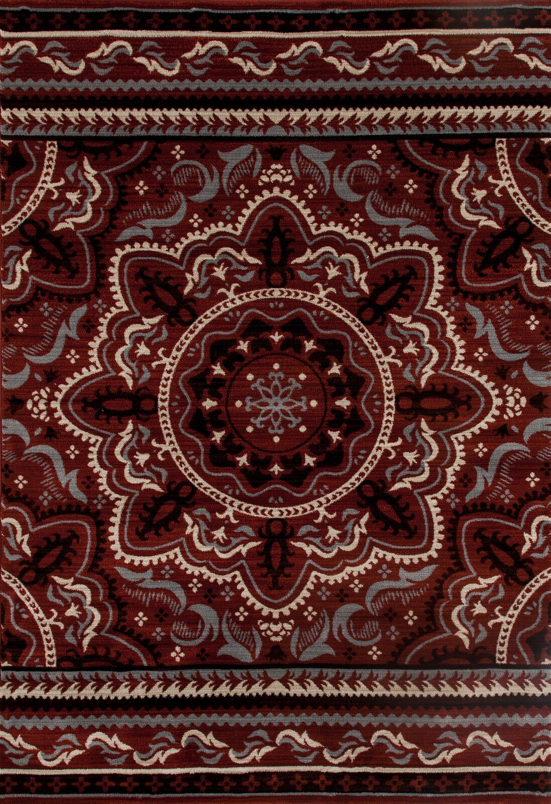 Highland Red Area Rug Rug Size: 6'7 x 9'2
