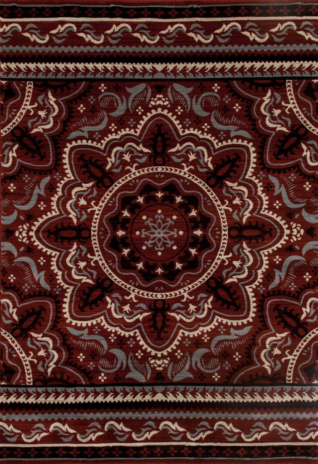 Highland Red Area Rug Rug Size: 3'11 x 5'7