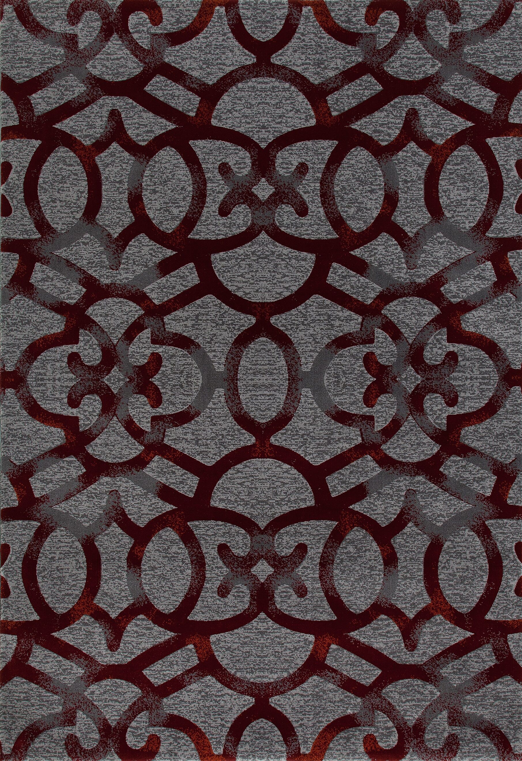 Delanie Red Area Rug Rug Size: 6'7 x 9'6