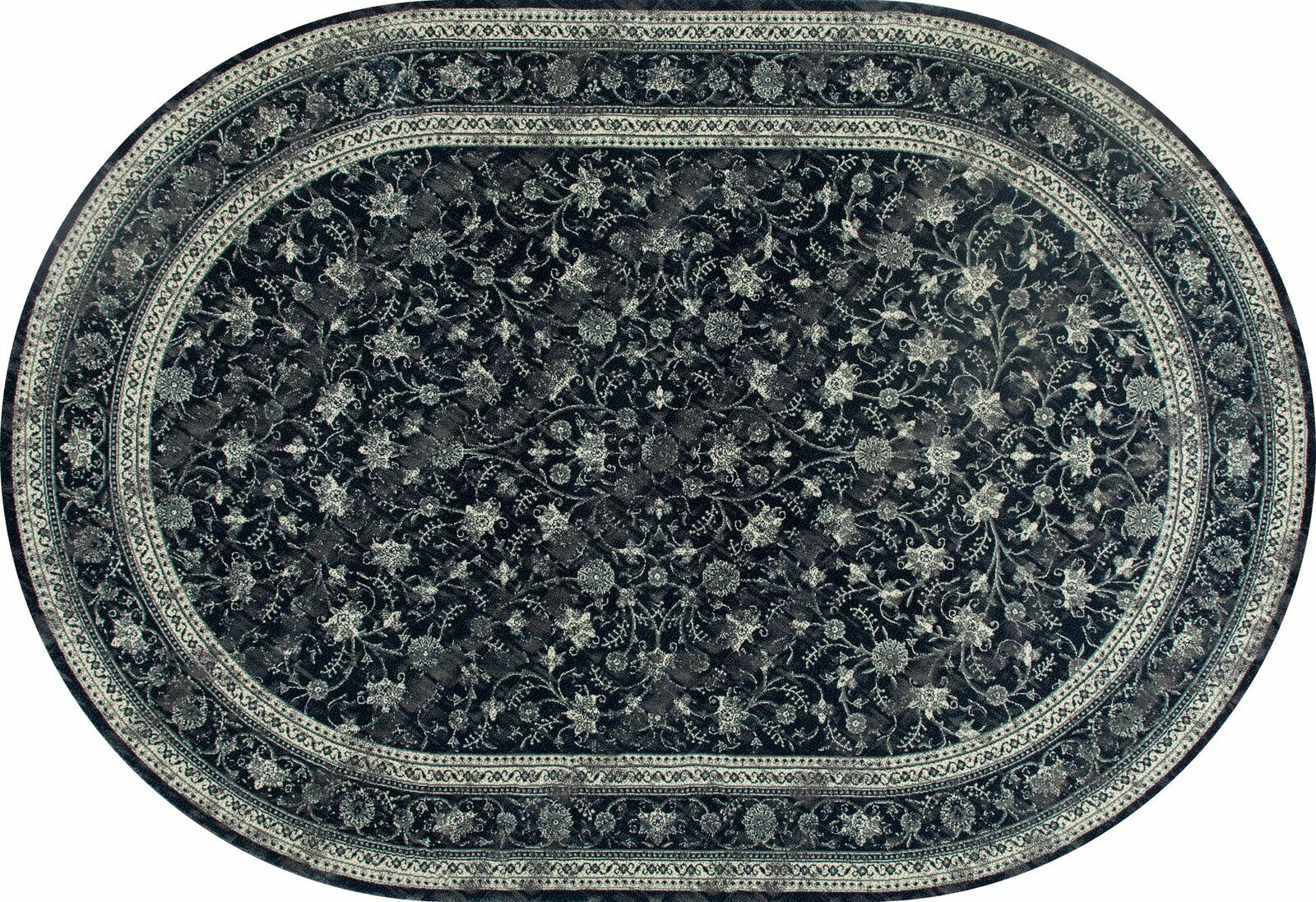Channel Steel Blue Area Rug Rug Size: 3'11 x 5'11