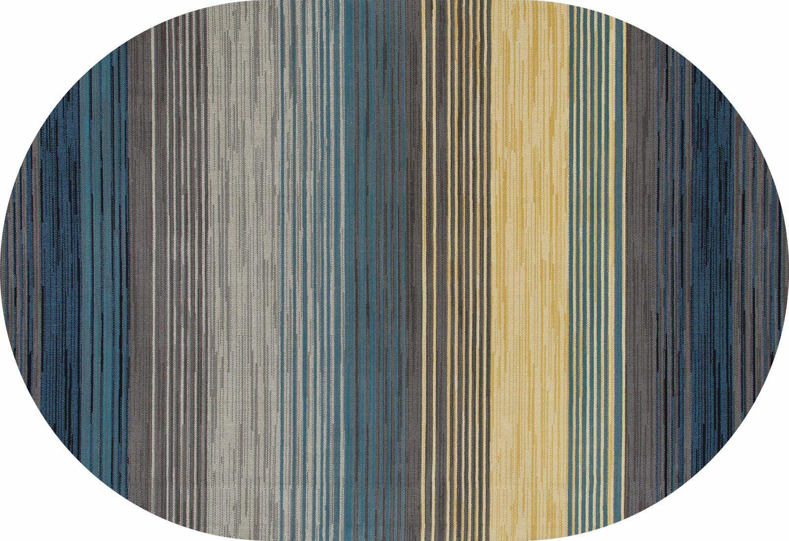 Vassallo Gray Area Rug Rug Size: OVAL 3'11 x 6'1
