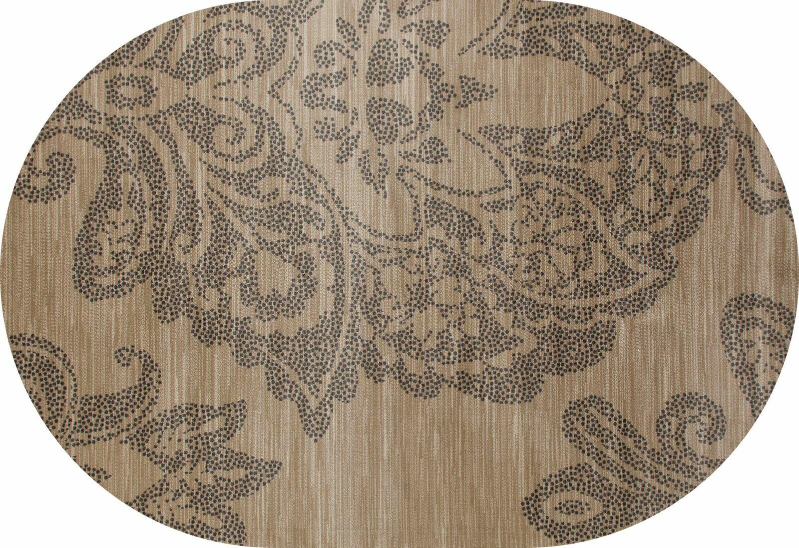 Klahn Beige Area Rug Rug Size: OVAL 6'7 x 9'6