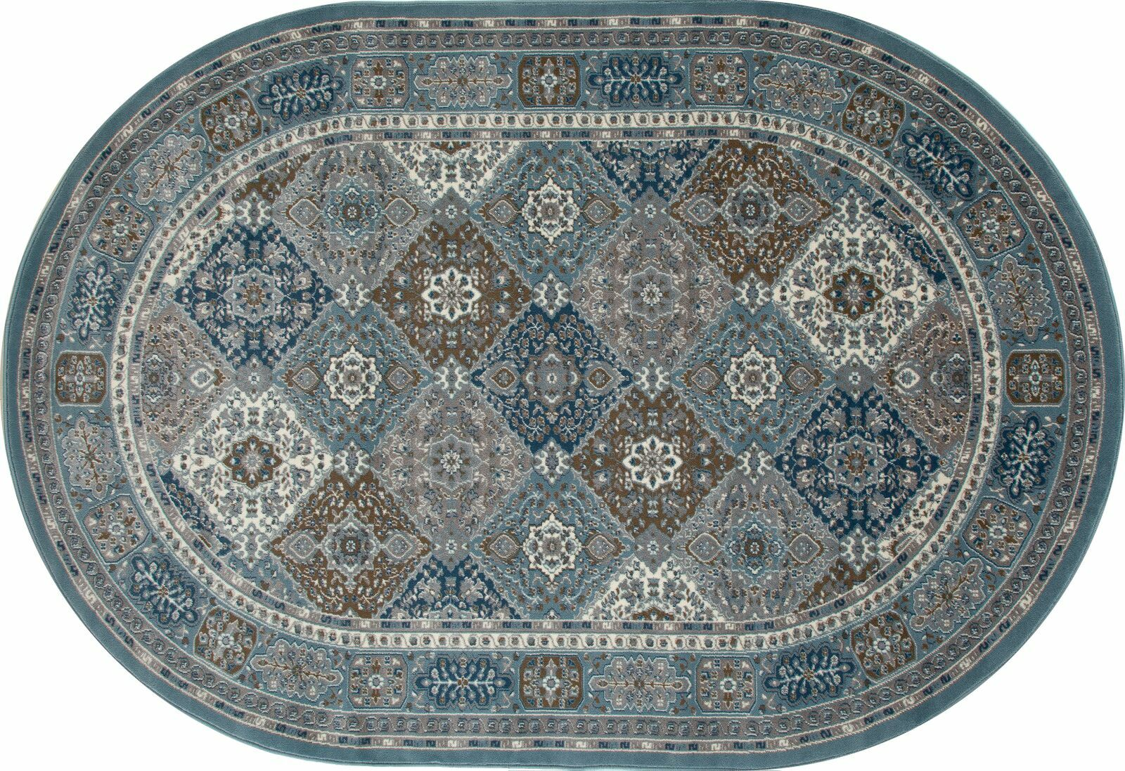 Jack Multi-Colored Area Rug Rug Size: OVAL 6'7 x 9'6