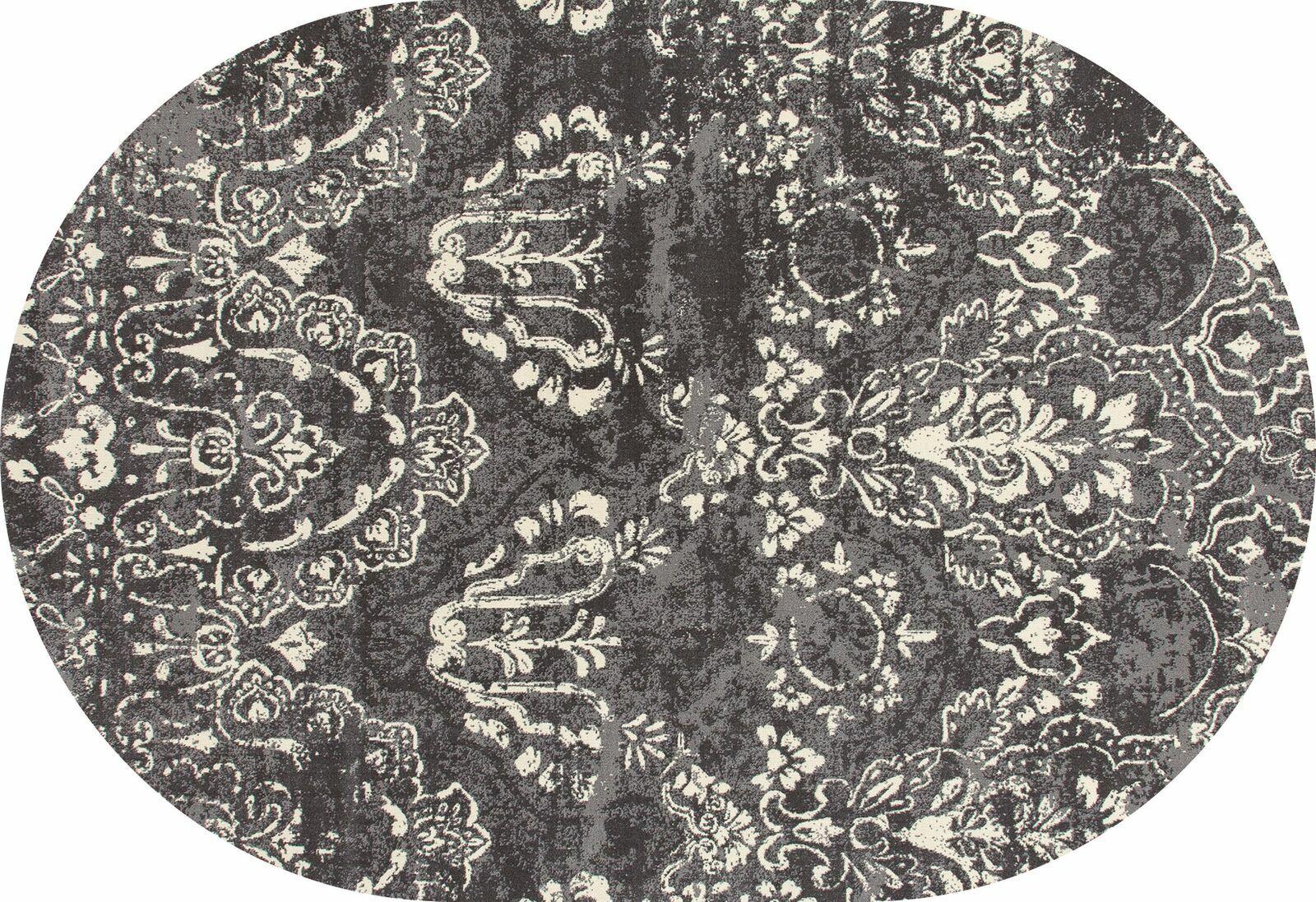 Hewish Gray Area Rug Rug Size: 5'3 x 7'7