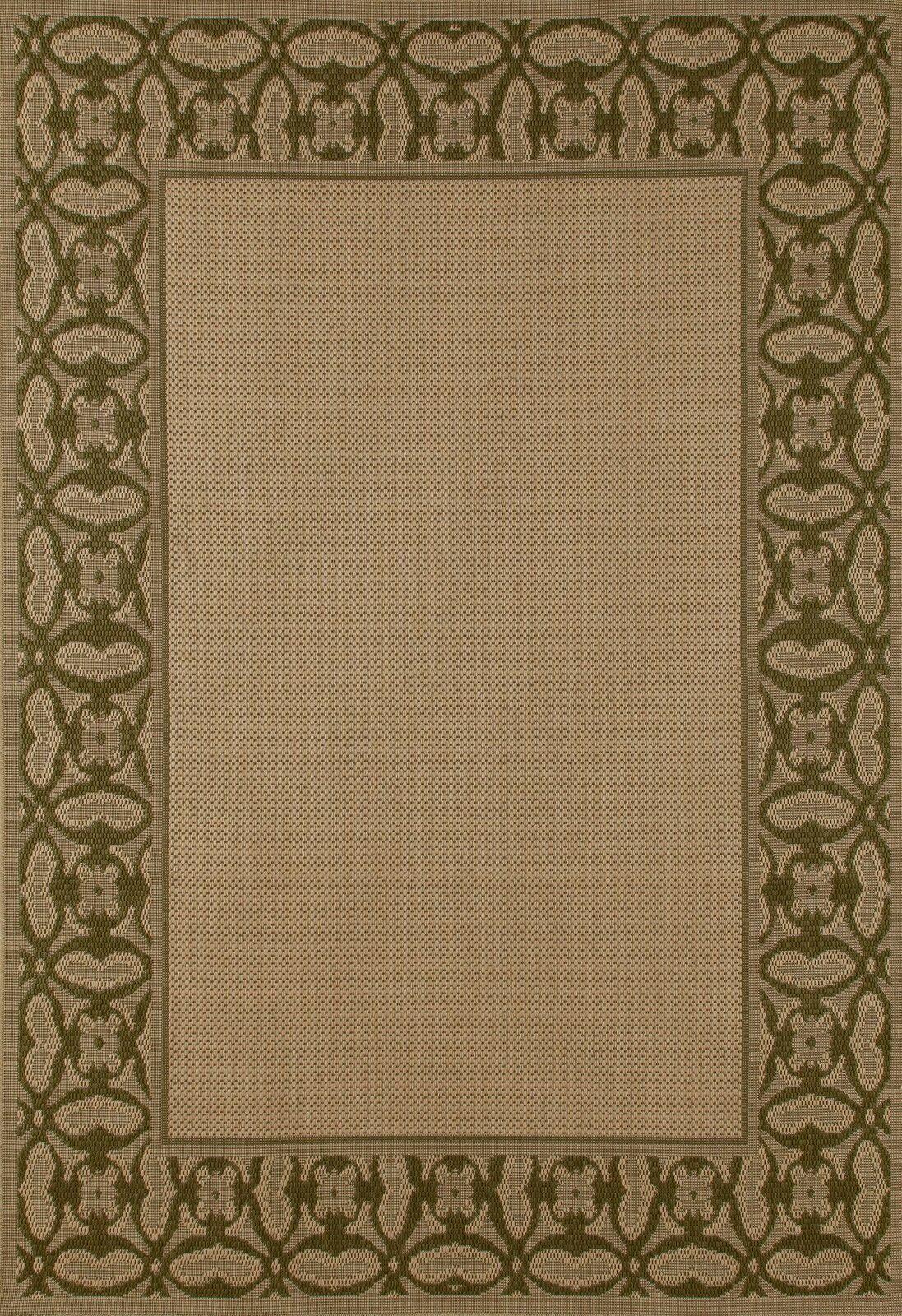 Beaminster Green/Beige Indoor/Outdoor Area Rug Rug Size: 6'7 x 9'2
