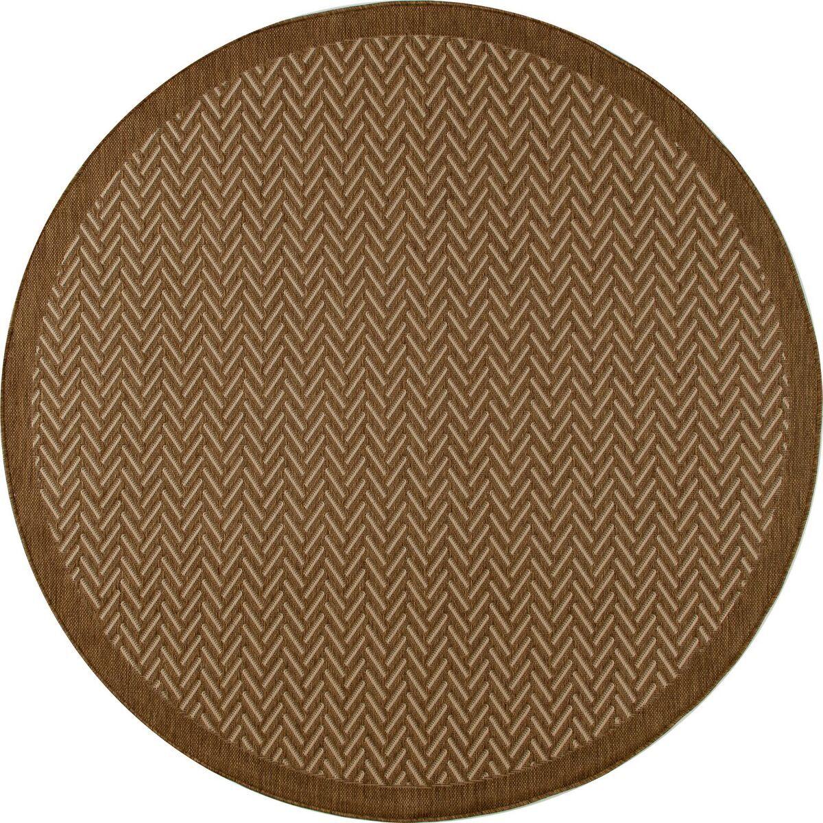 Beaminster Brown Indoor/Outdoor Area Rug Rug Size: ROUND 6'7