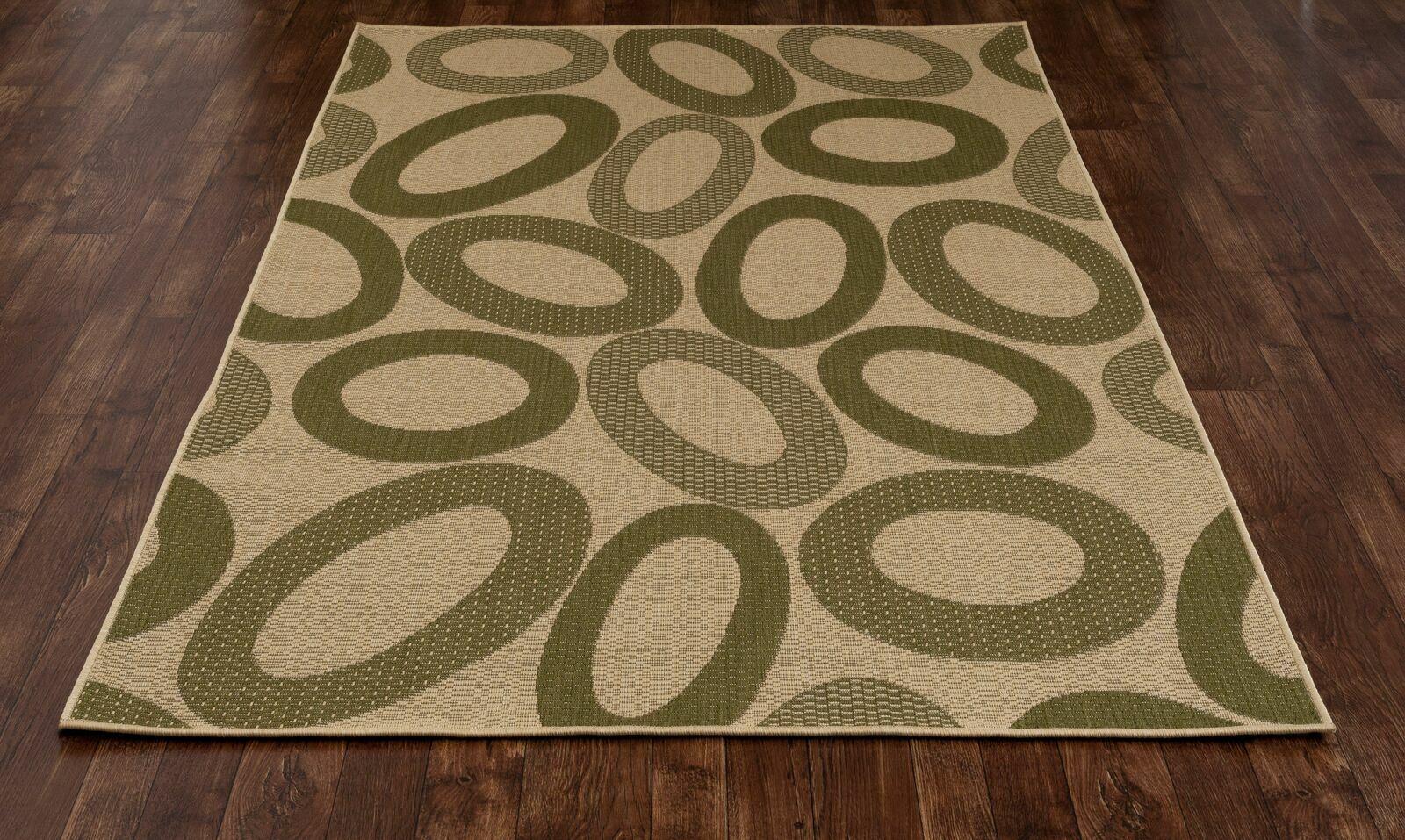 Lusk Green/Cream Indoor/Outdoor Area Rug Rug Size: 9'2 x 12'6