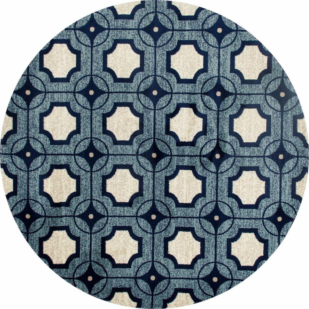 Crim Blue Area Rug Rug Size: 3'11 x 5'7