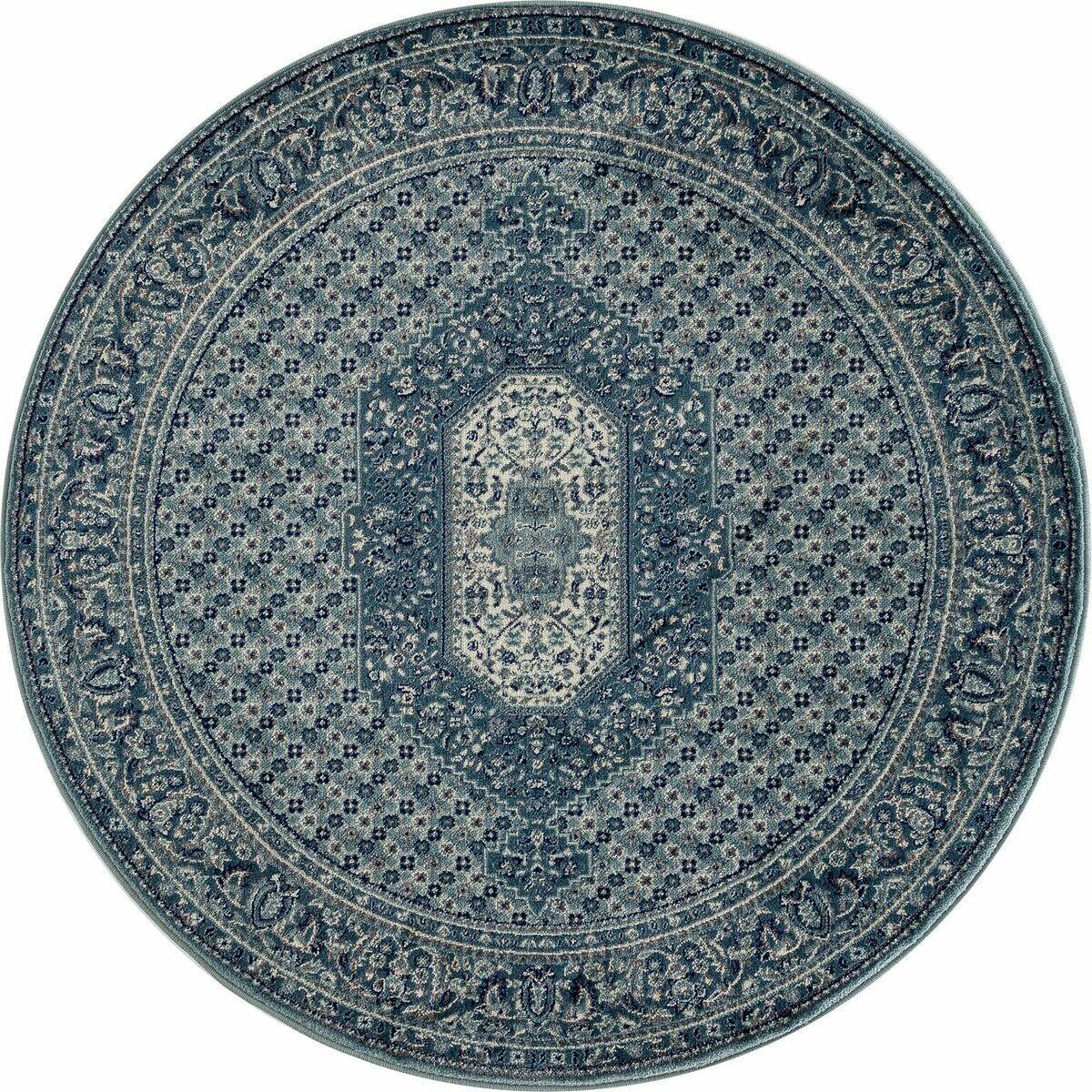 Hudson Blue Area Rug Rug Size: 3'11 x 5'7