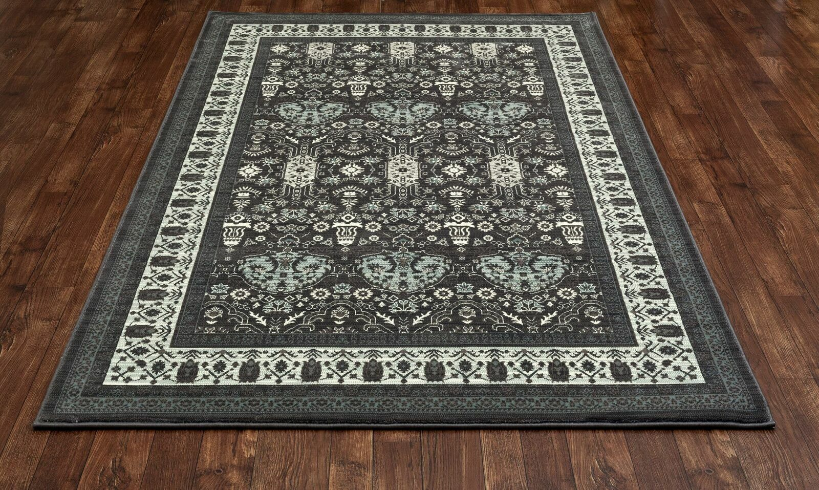 Channel Gray Area Rug Rug Size: 6'7 x 9'6