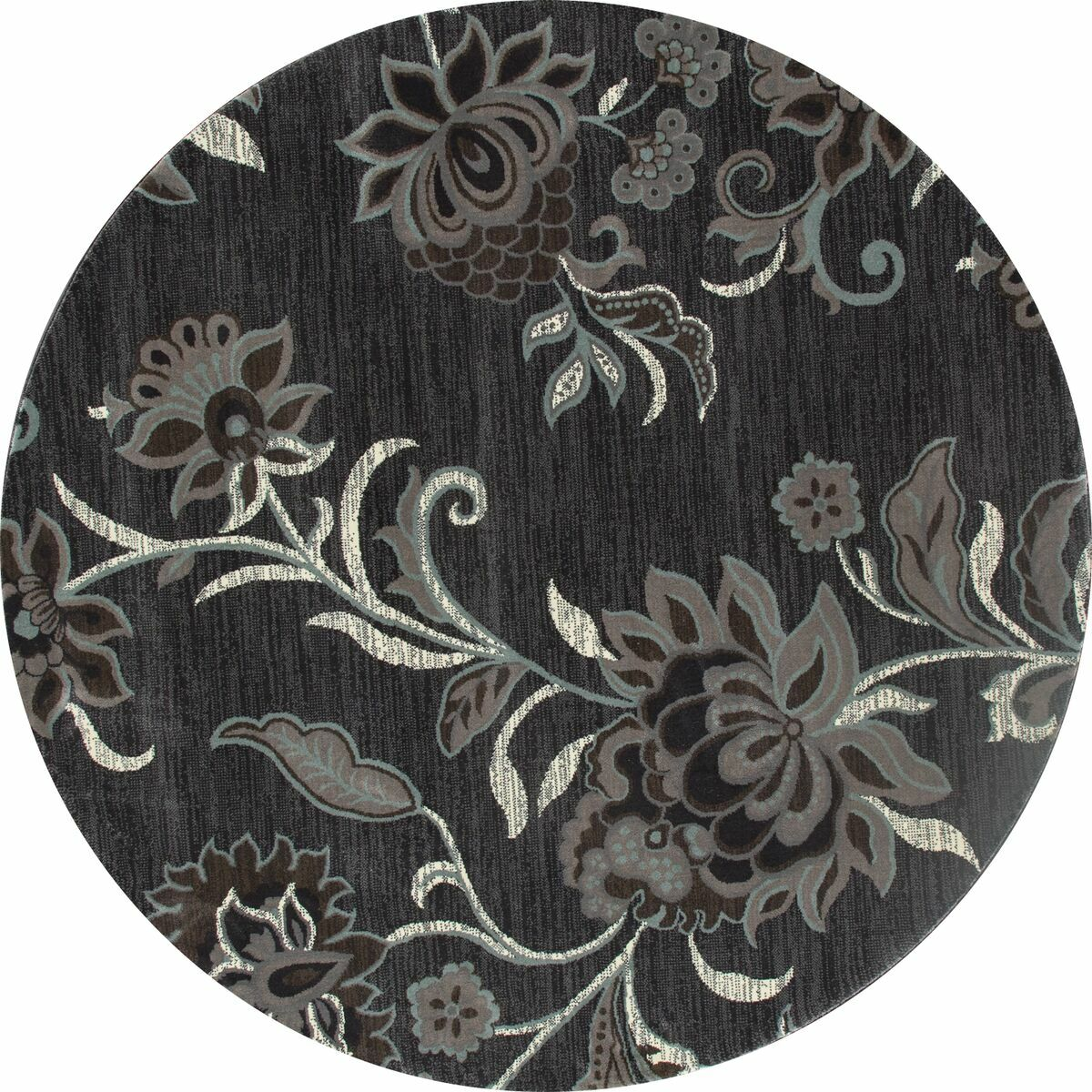 Channel Gray Area Rug Rug Size: ROUND 5'3