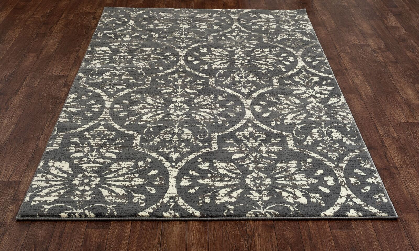 Channel Gray/Cream Area Rug Rug Size: 11' x 14'9