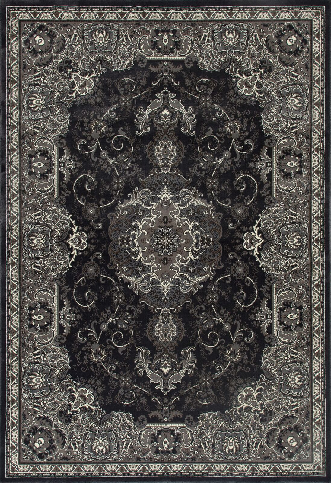 Channel Gray Area Rug Rug Size: 5'3 x 7'7