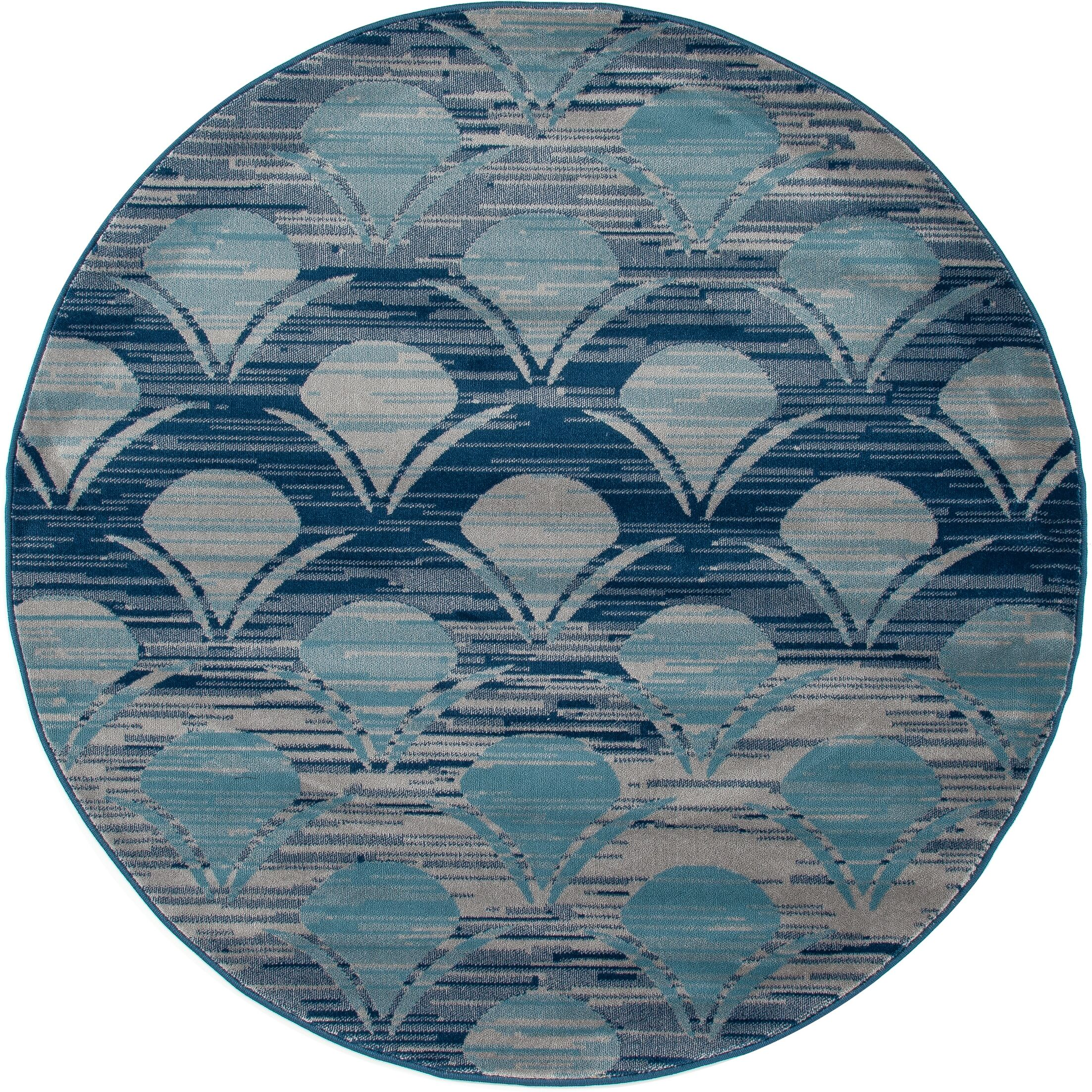 Ceasar Waves Gray Indoor/Outdoor Area Rug Rug Size: 9'2 x 12'4