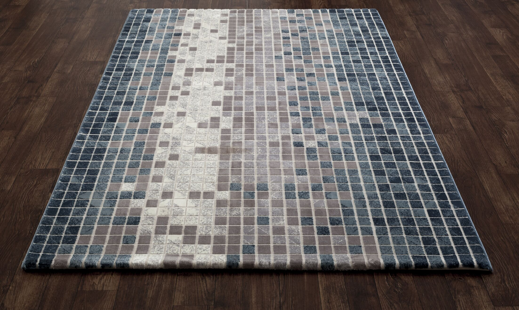 Mcconnell Blue/Gray Area Rug Rug Size: 9'2 x 12'4