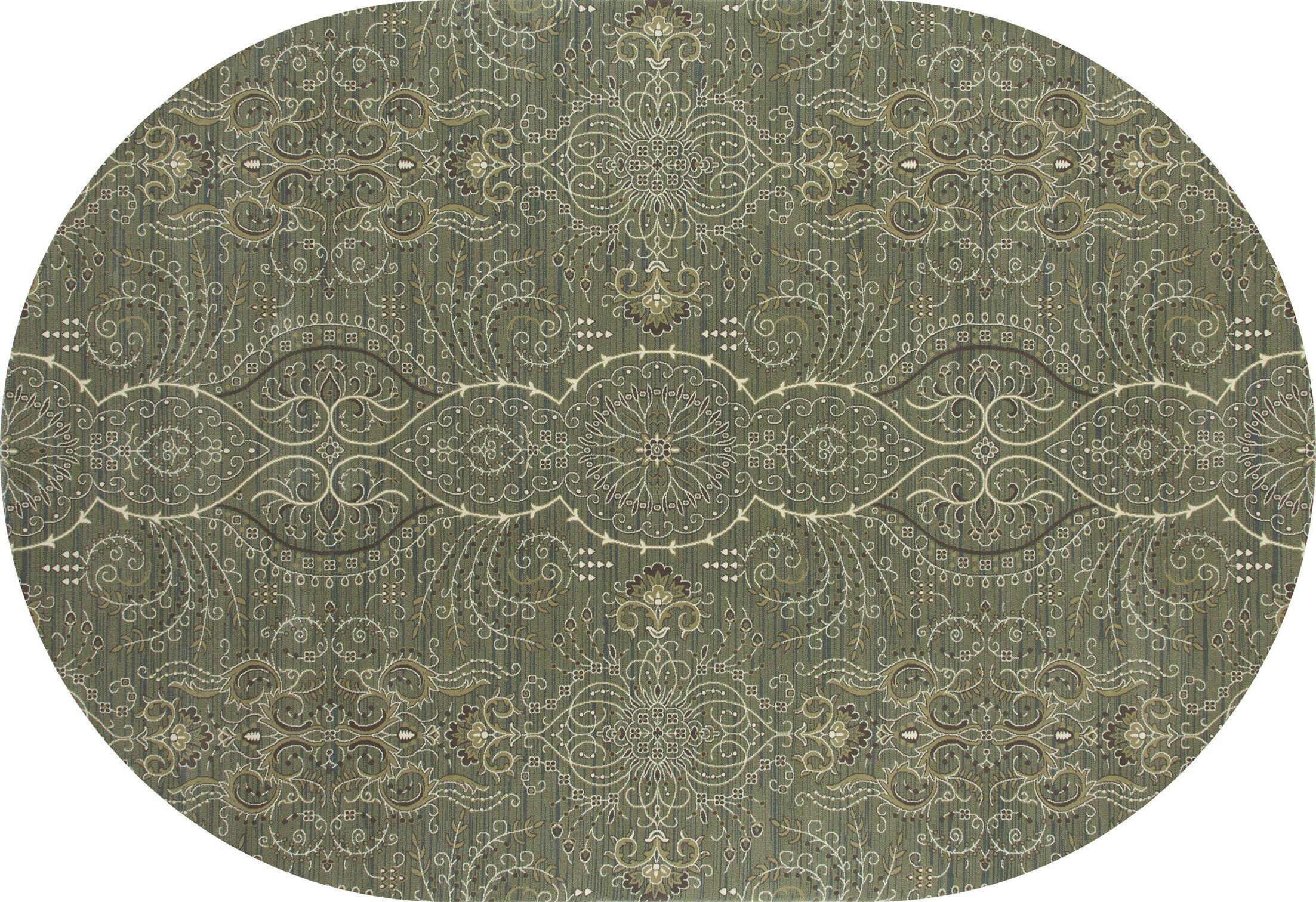 Castellano Light Green Area Rug Rug Size: OVAL 3'11 x 6'1