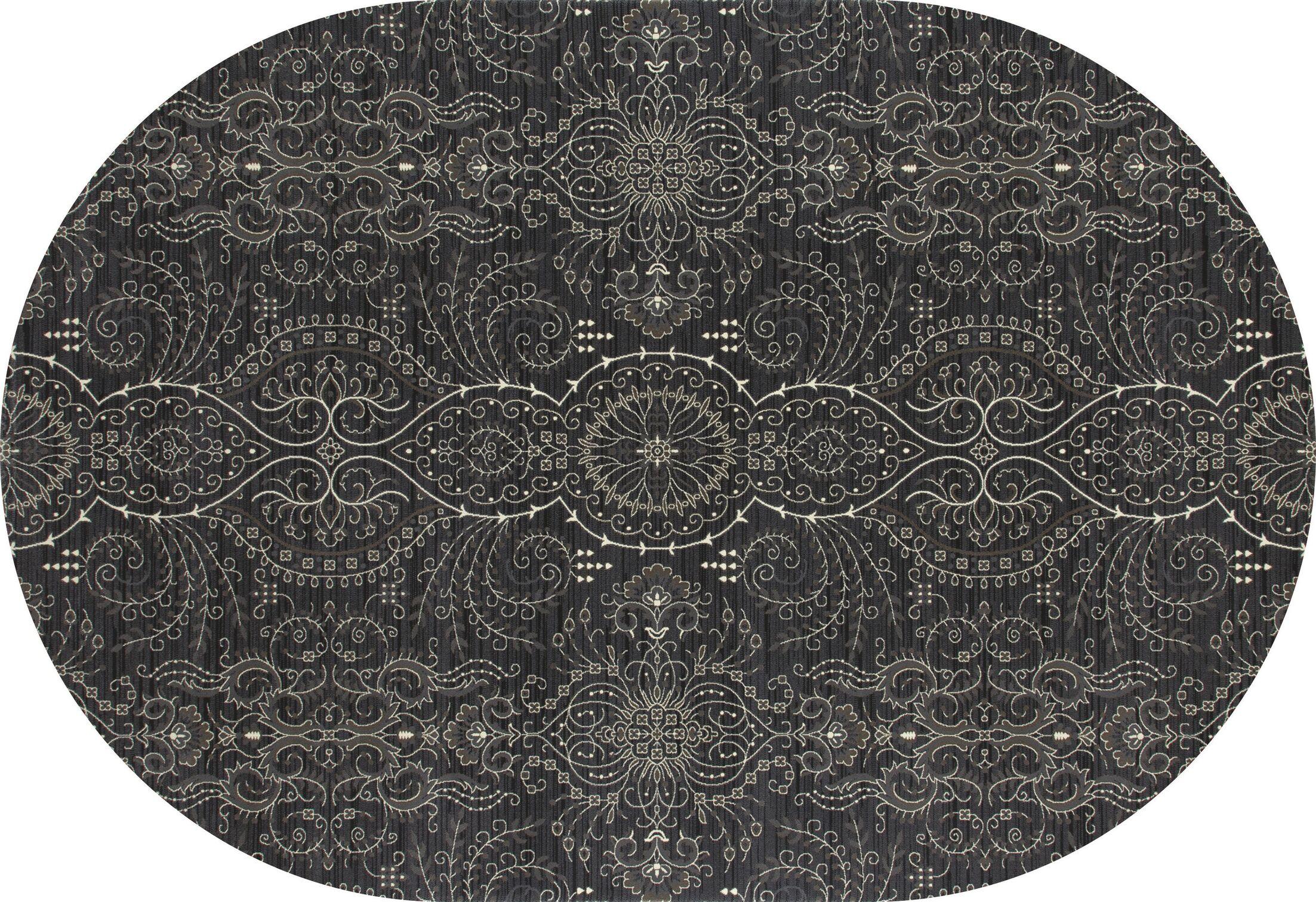 Castellano Gray Area Rug Rug Size: OVAL 6'7 x 9'10