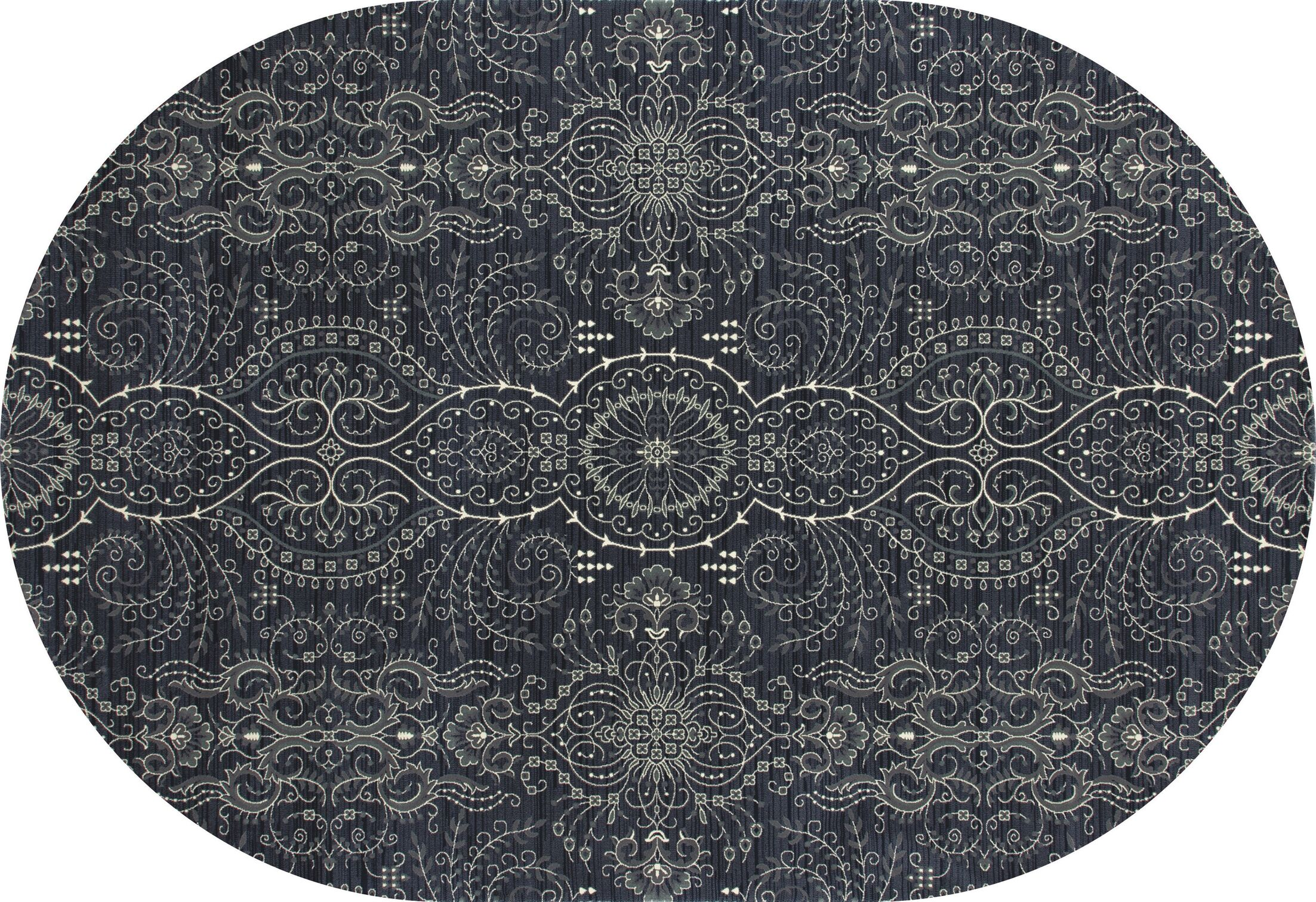 Castellano Blue Area Rug Rug Size: OVAL 5'3 x 8'1