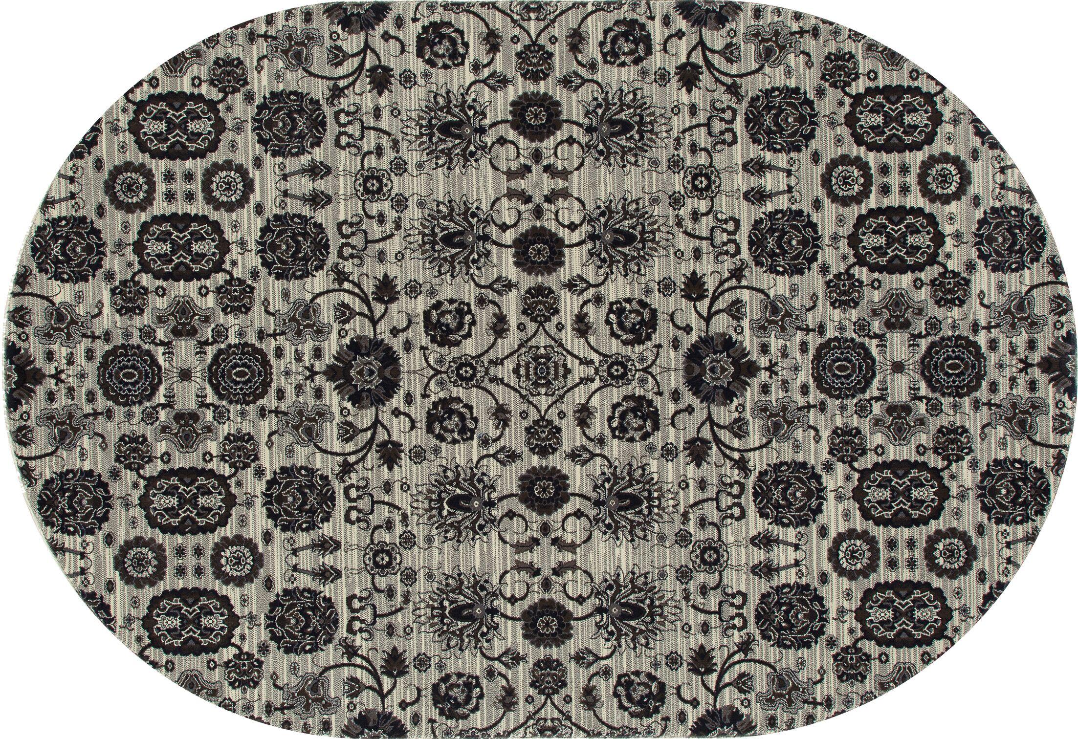 Castellano Cream Area Rug Rug Size: OVAL 6'7 x 9'10