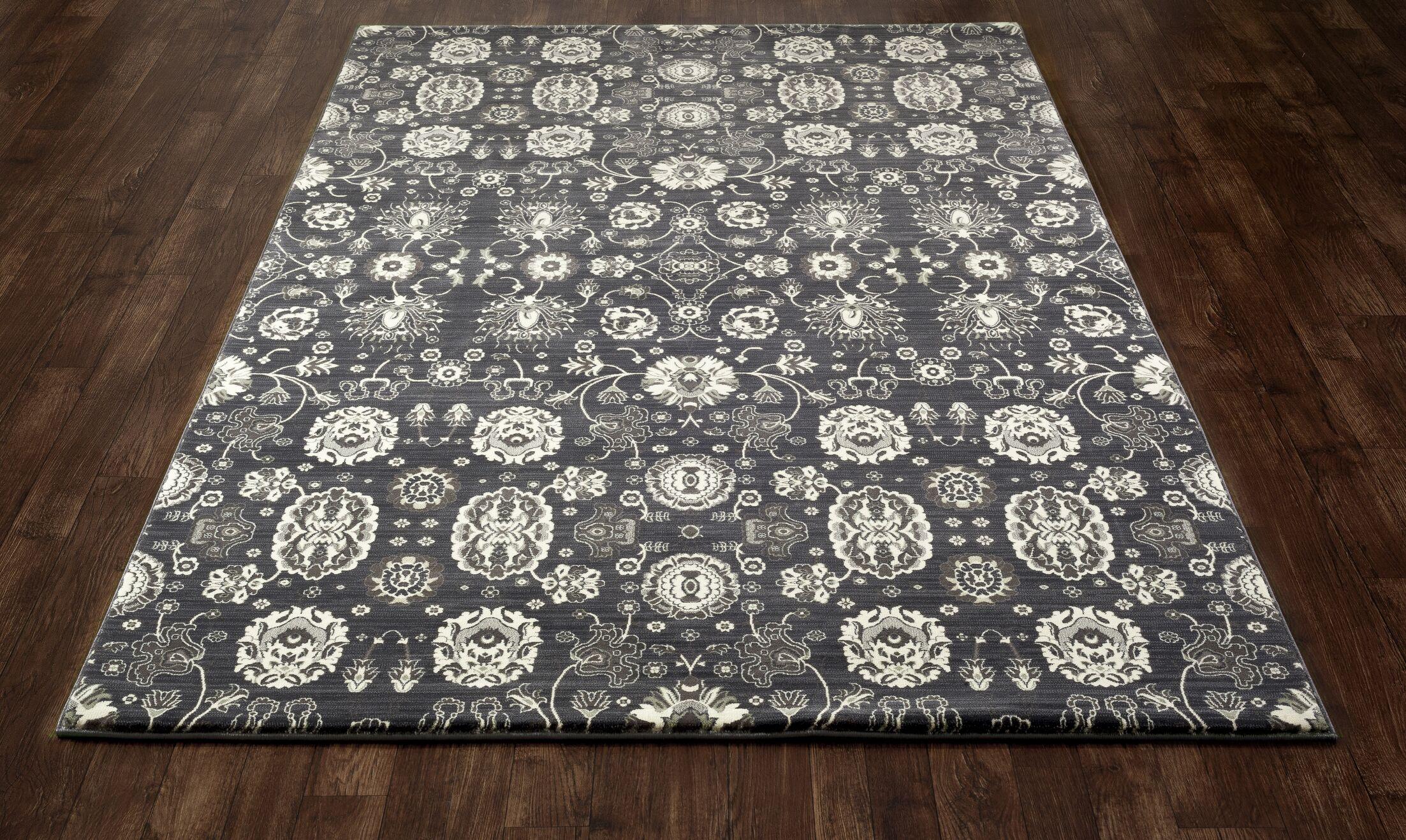Castellano Dark Gray Area Rug Rug Size: 5'7 x 8'6