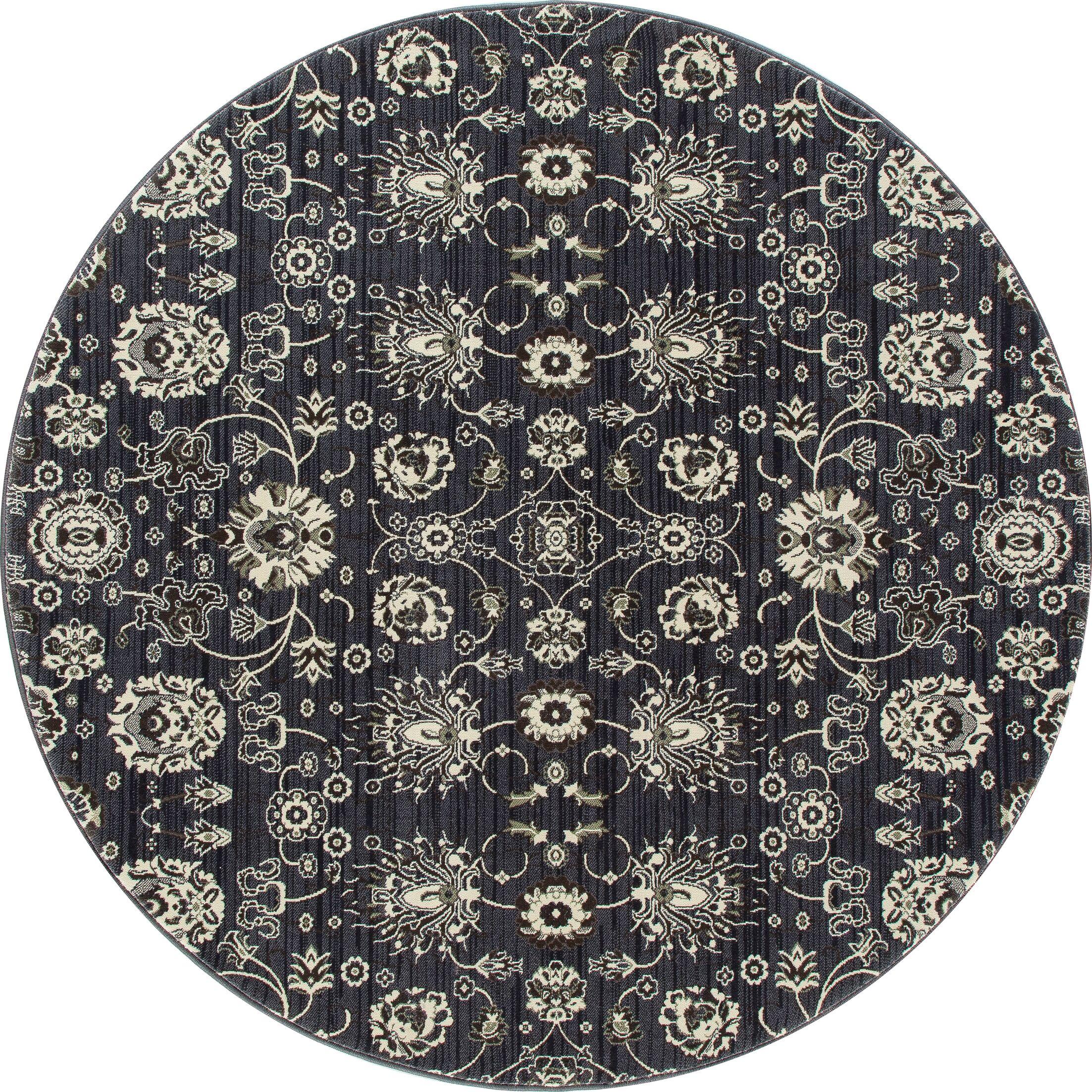 Castellano Dark Gray Area Rug Rug Size: ROUND 5'3