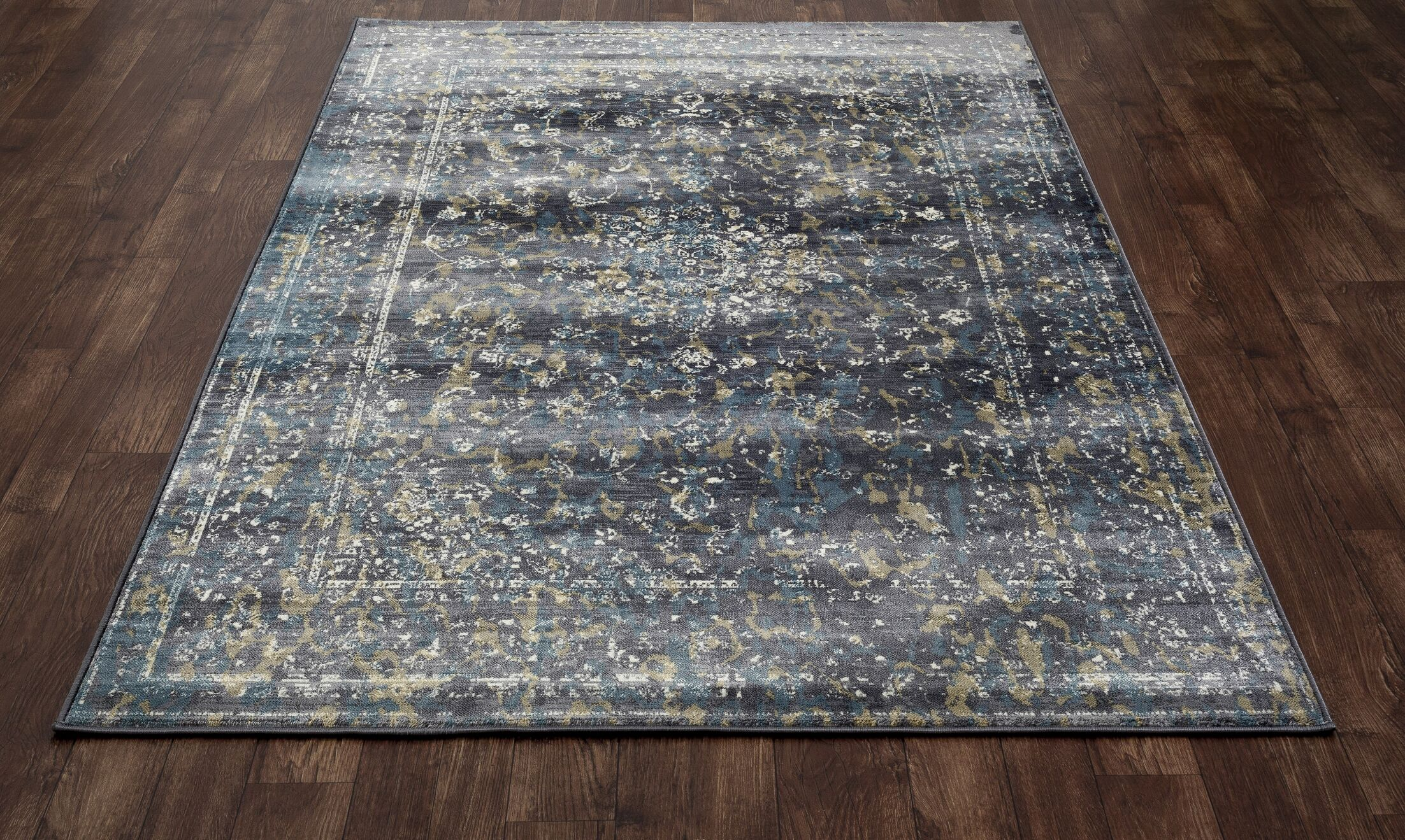 Devay Gray Indoor Area Rug Size: 5'3 x 7'7