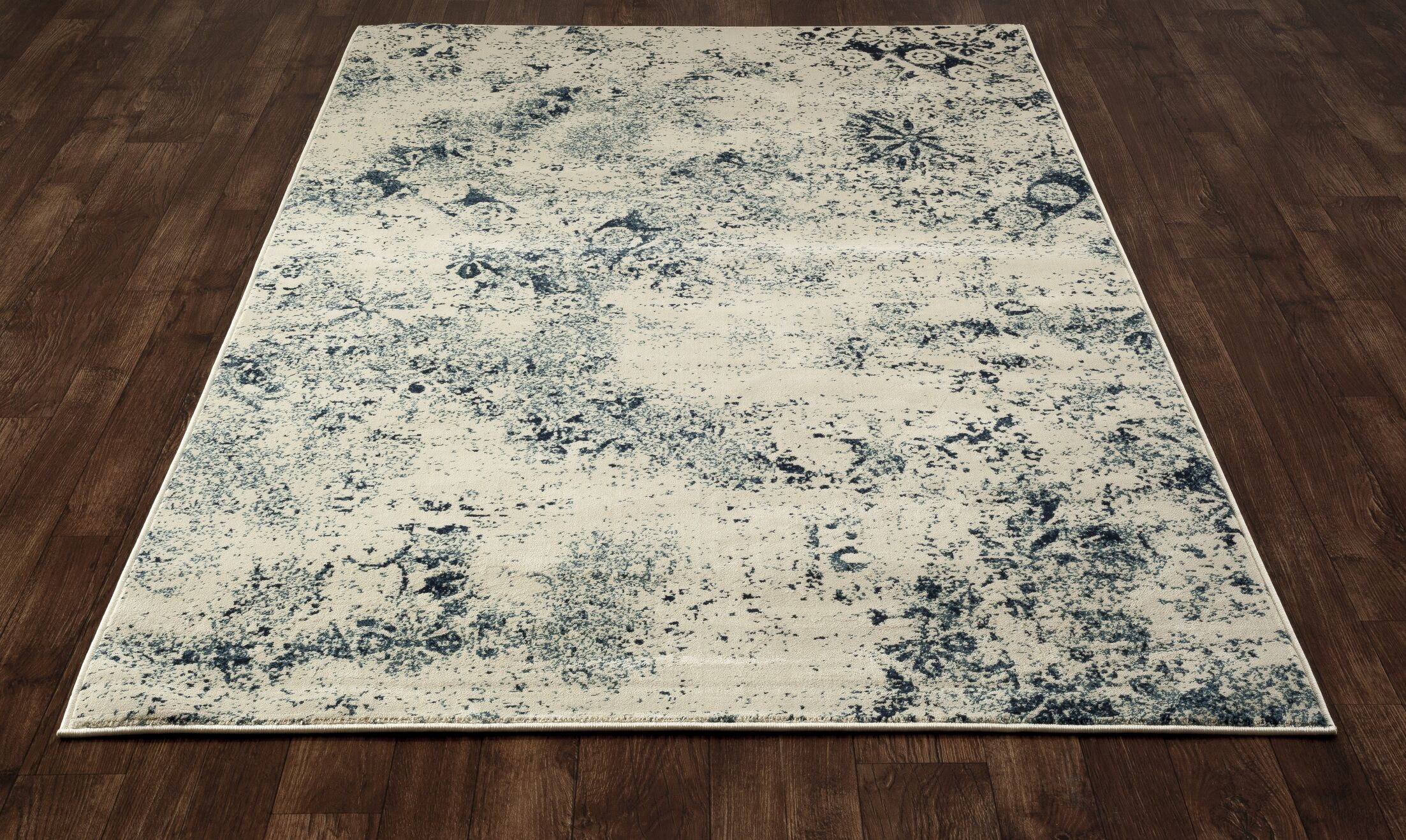 Devay Steel Blue Area Rug Rug Size: 9'2 x 12'6