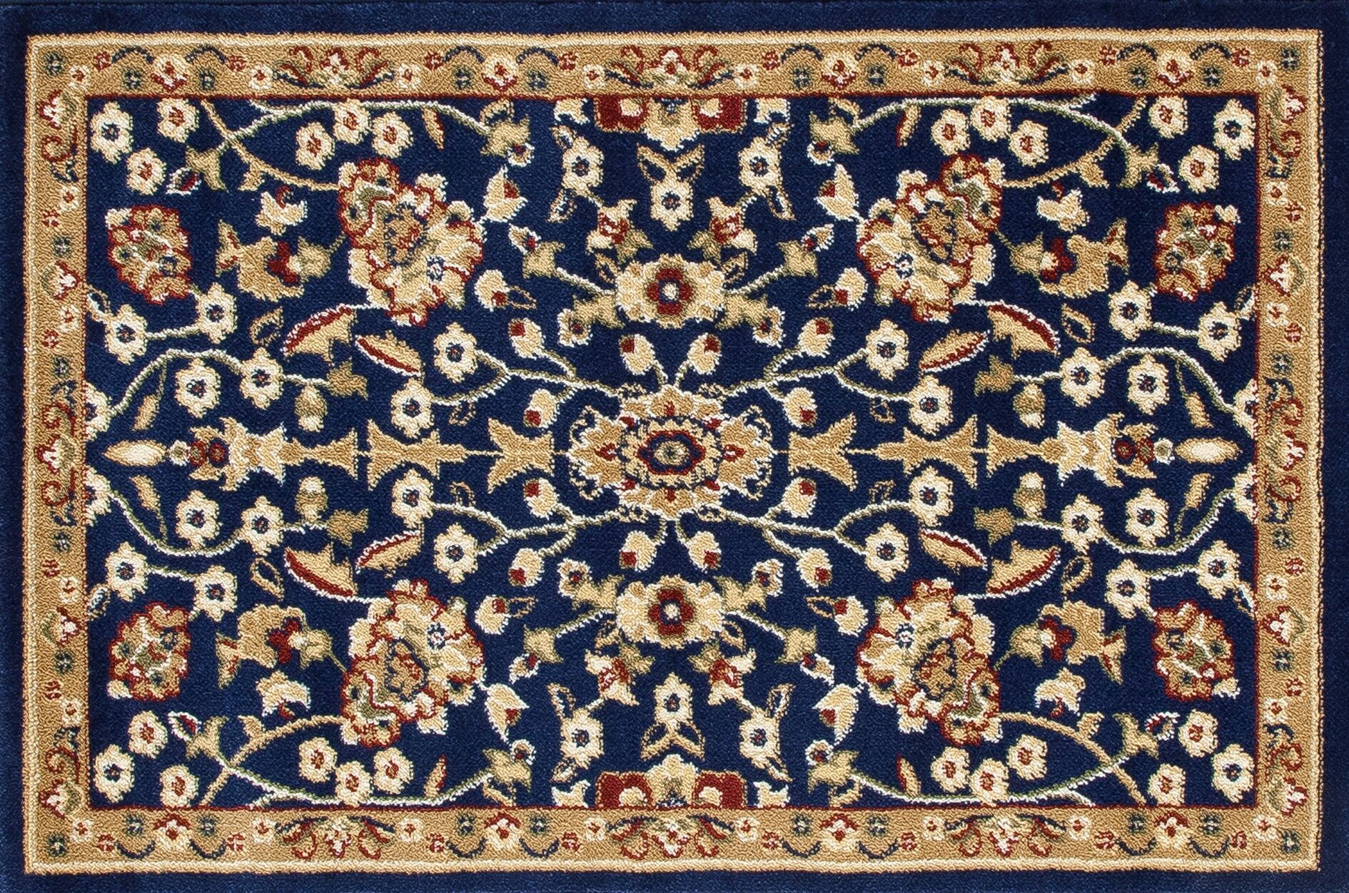 Willard Navy/Beige Area Rug Rug Size: Rectangle 2.7' x 4.1'
