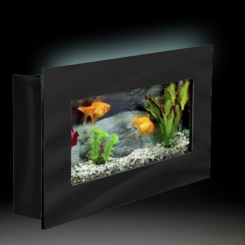 Aussie 2.5 Gallon Wall Mounted Aquarium Tank Color: Black