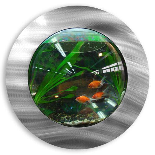 Ivan 1 Gallon Fish Bubble Deluxe Wall Mounted Aquarium Tank