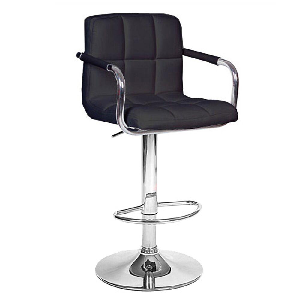Ivan Adjustable Height Swivel Bar Stool Upholstery: Black