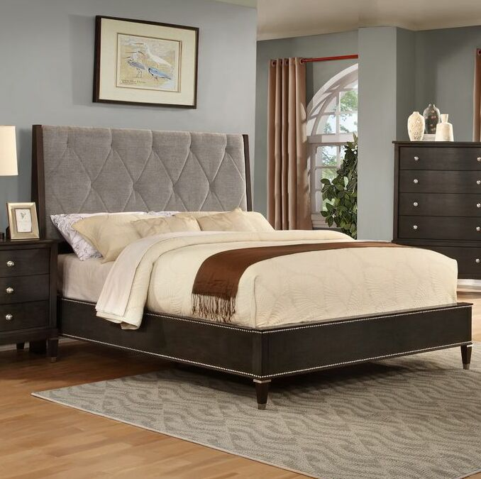 Dejuan Tufted Fabric Upholstered Panel Bed Size: King