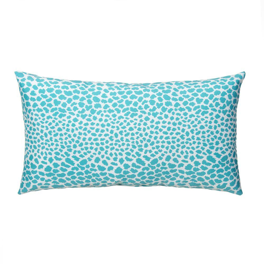 Don't Be Catty Outdoor Lumbar Pillow Color: Aqua