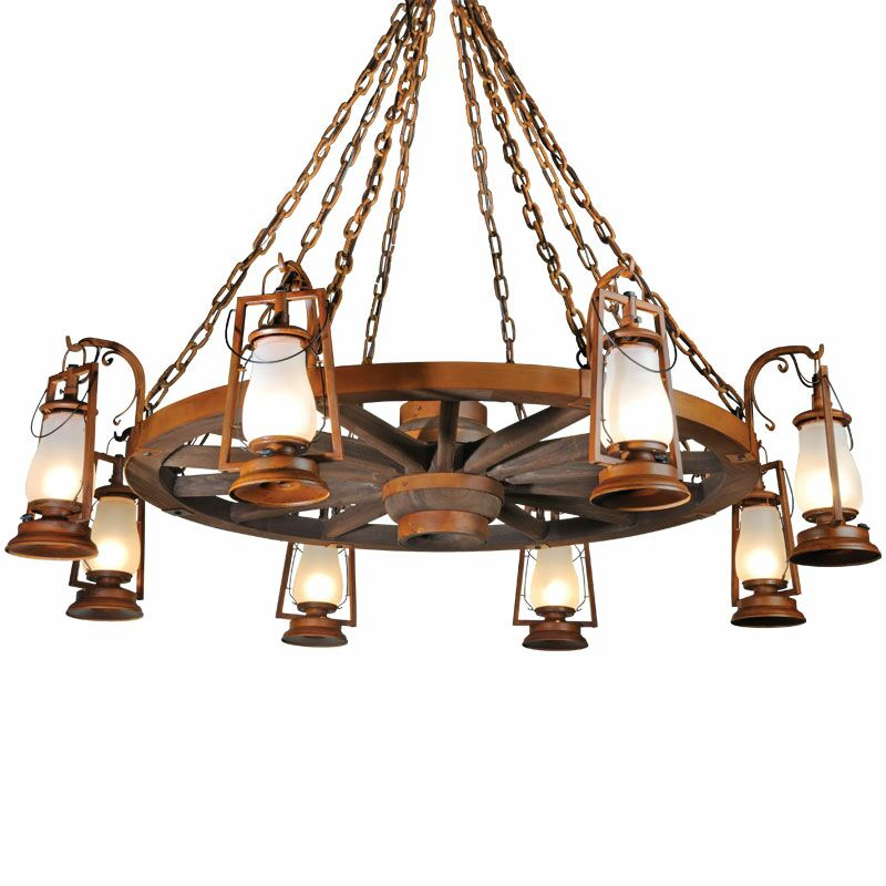 49er Series 8-Light Shaded Chandelier Finish: Painted Rust, Shade: Clear