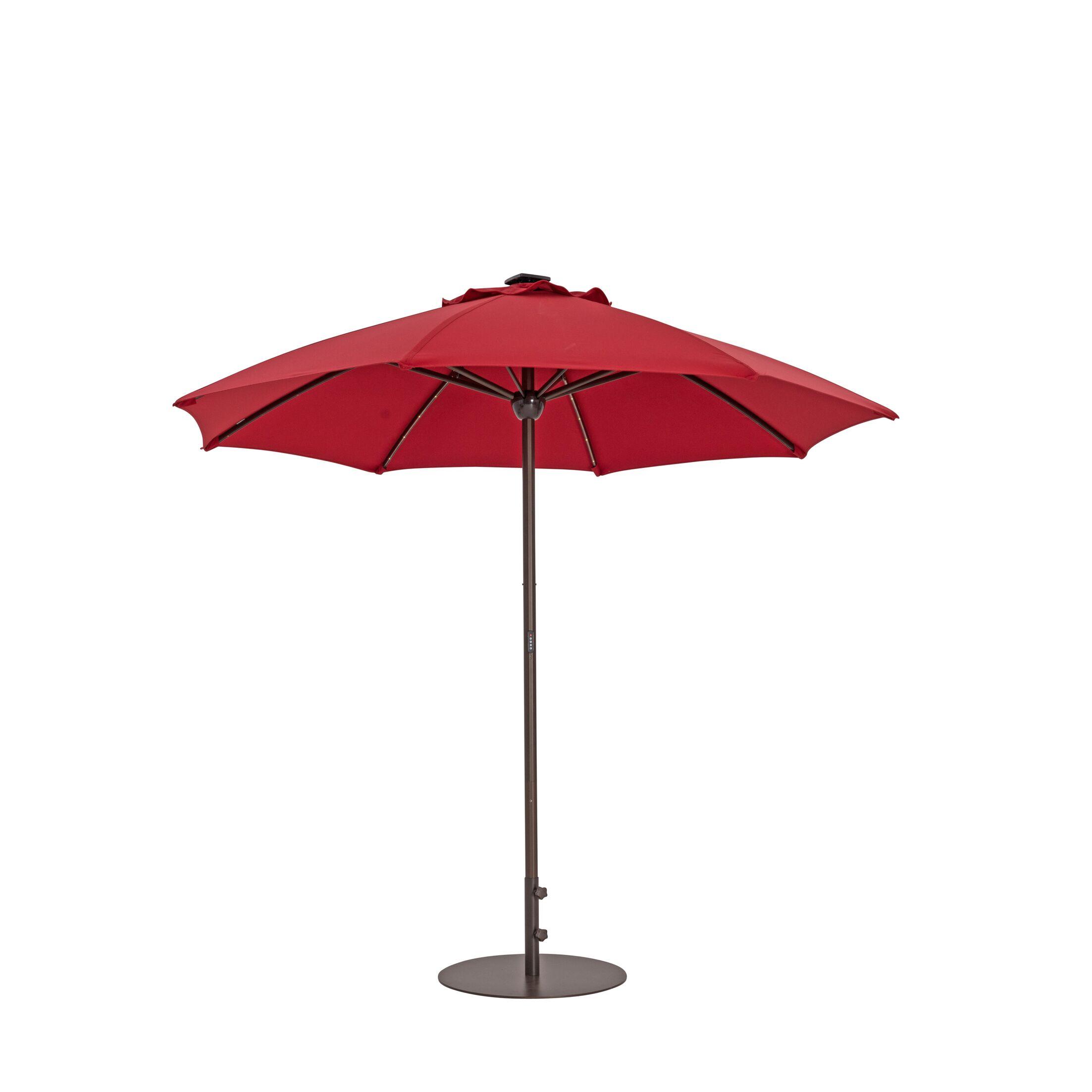 9' Market Umbrella Fabric Color: Jockey Red