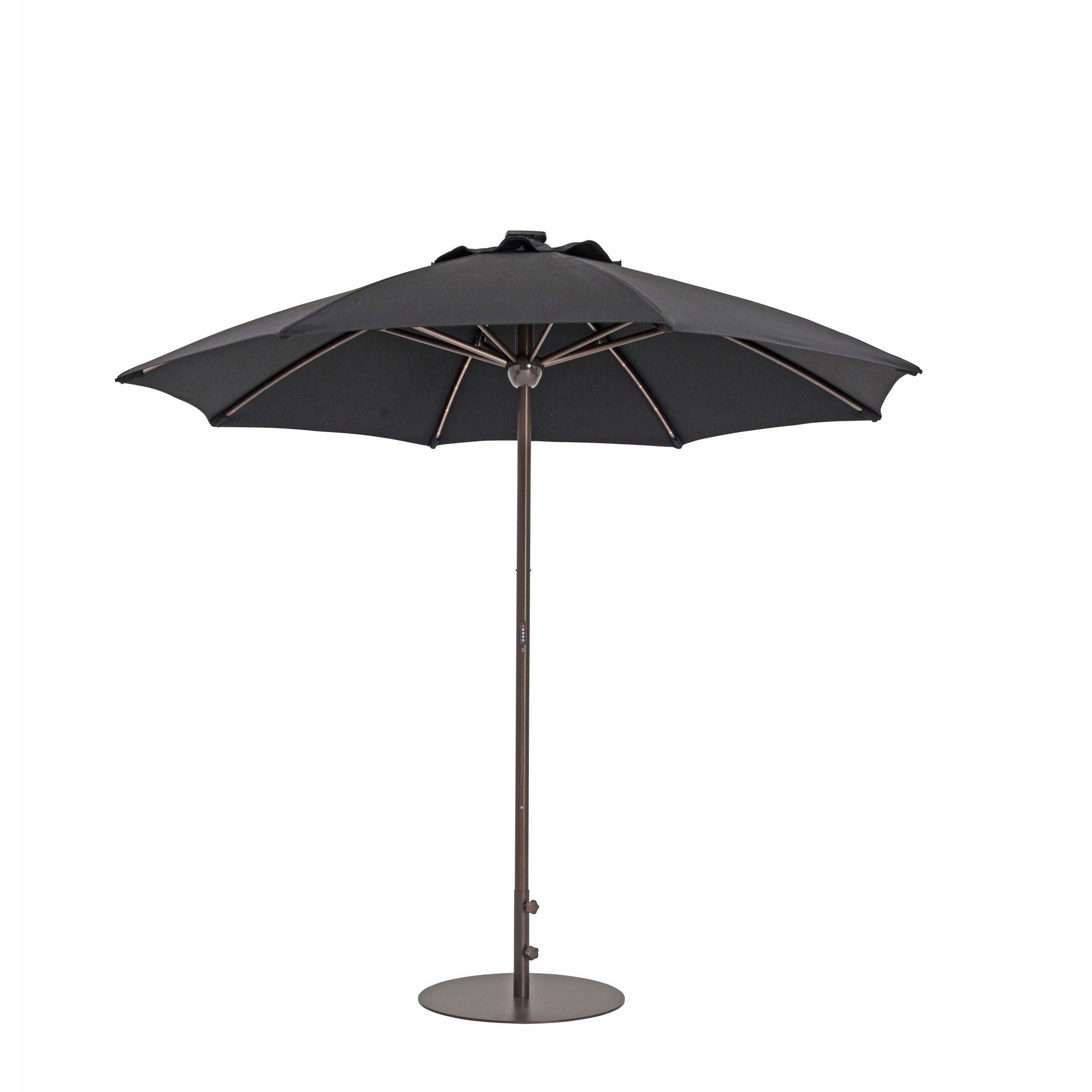 9' Market Umbrella Fabric Color: Black