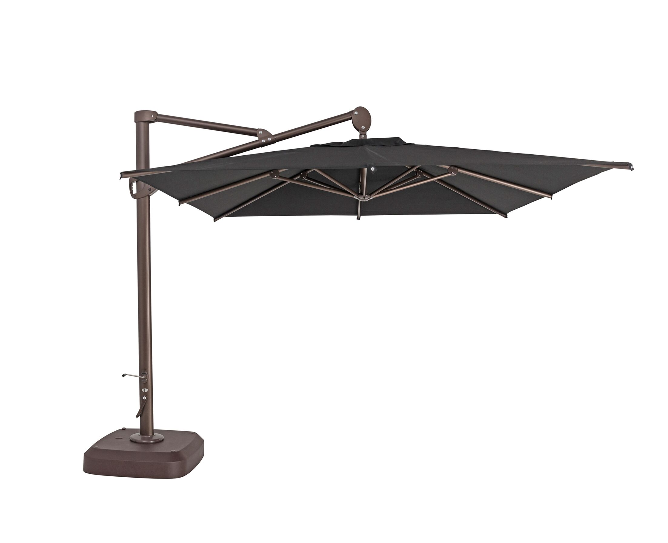 10' Square Cantilever Umbrella Color: Black